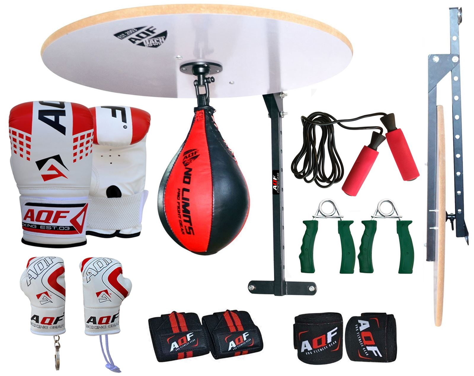 R 1x Speed Ball Platform Swivel Stand Boxing Gloves Bracket Cow Hide Leather