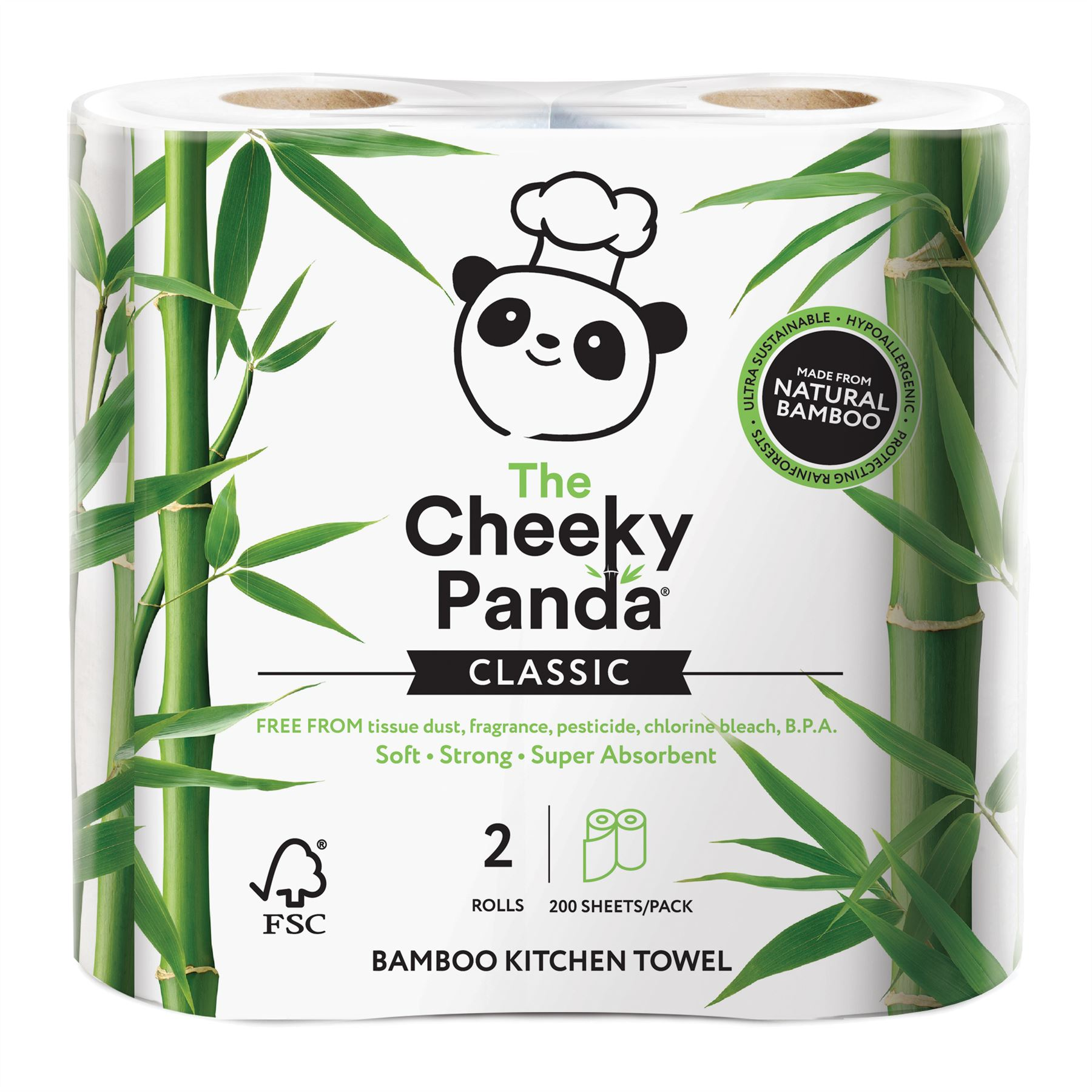 50 Count The Cheeky Panda 100 Percent Bamboo Dinner Napkin