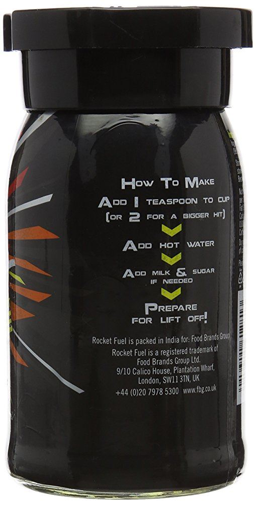 Details about Rocket Fuel Energy Instant Coffee 100g
