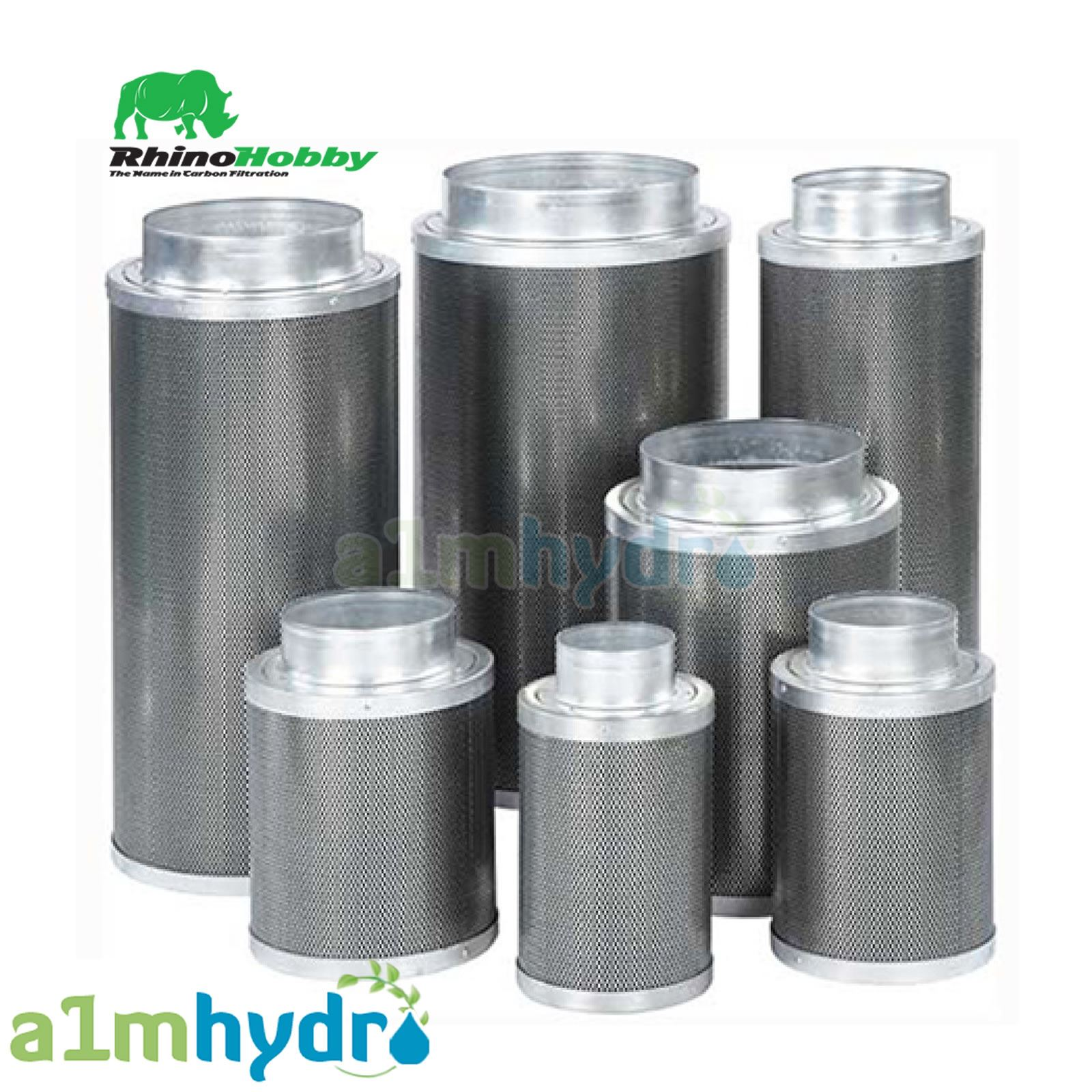 Rhino Pro /& Hobby Filter 4 5 6 8 10 12 Inch Carbon Hydroponics FREE ITEMS