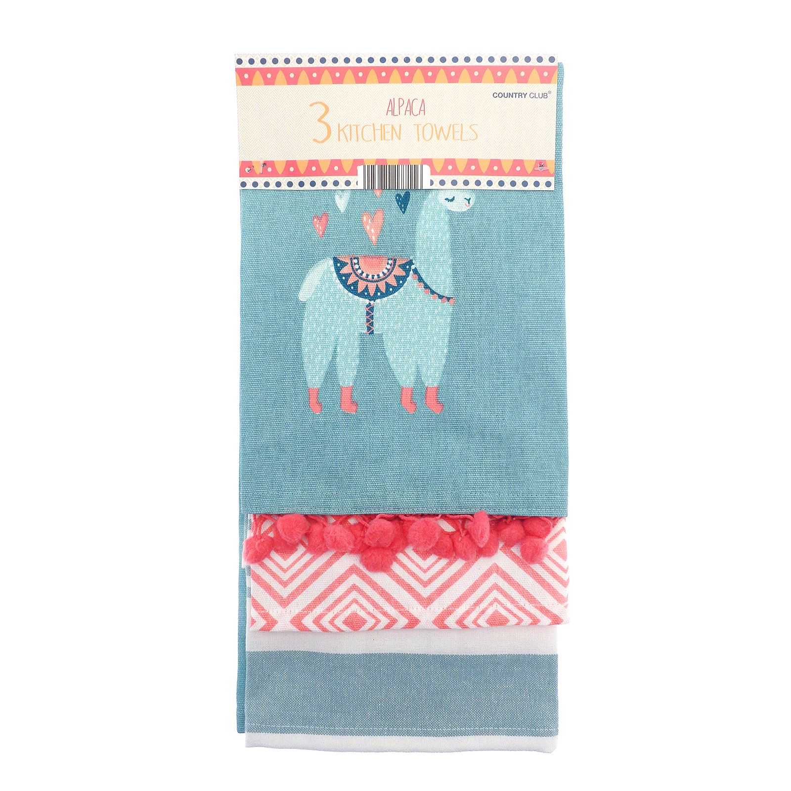 Details about 3 Pack of Alpaca Kitchen Tea Towels Home Cooking Oven  Cleaning Dishes Accessory