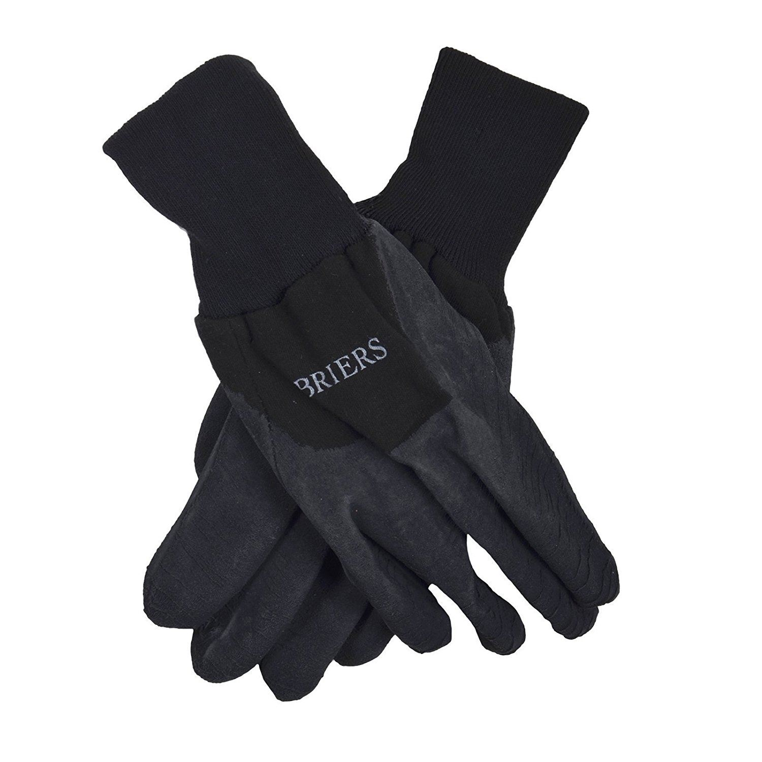 Briers Lined Dual Leather Garden Gloves Black//White  Garden Gloves ** Reduced **