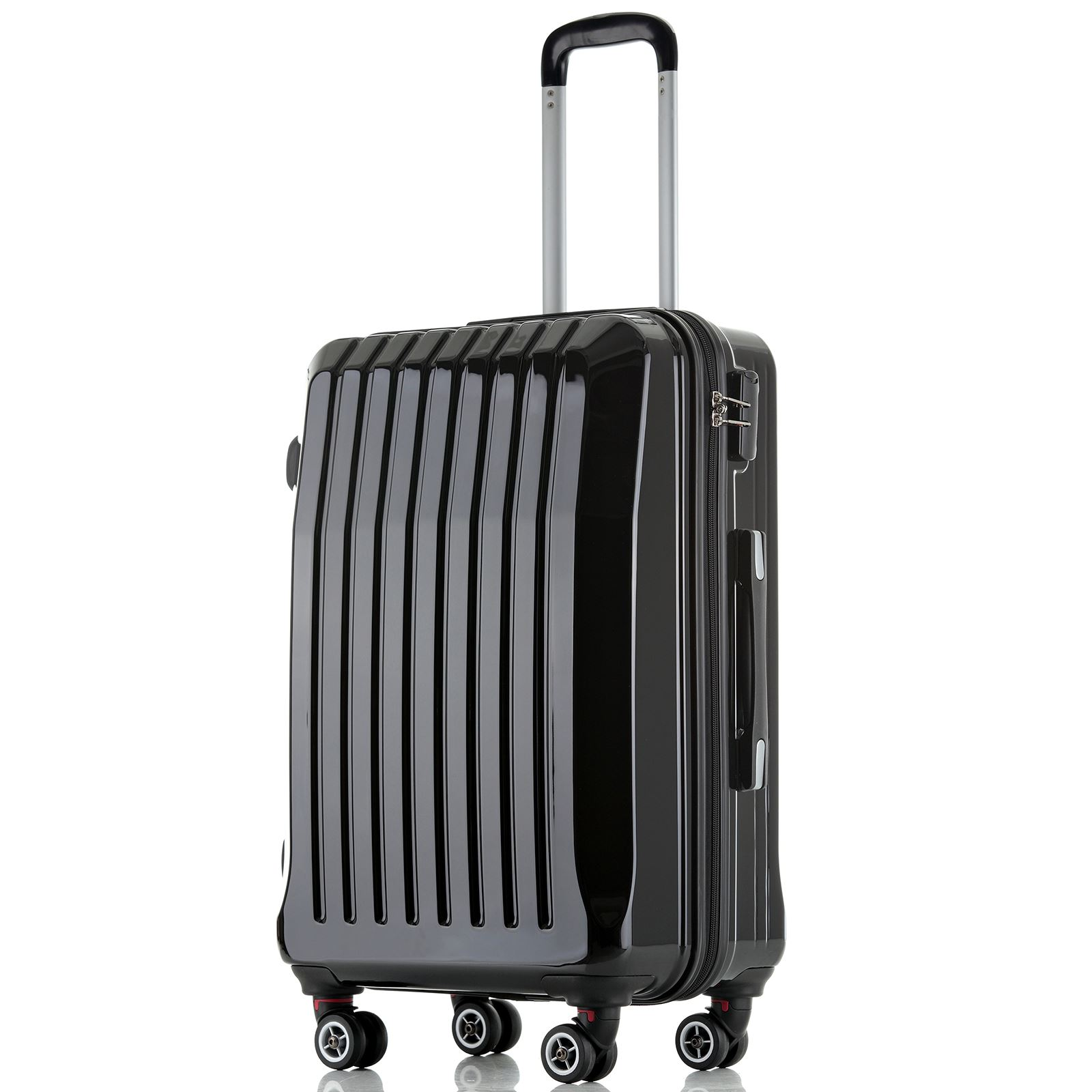 Hard Shell ABS Trolley Case 4 Spinner Wheels Suitcase ...