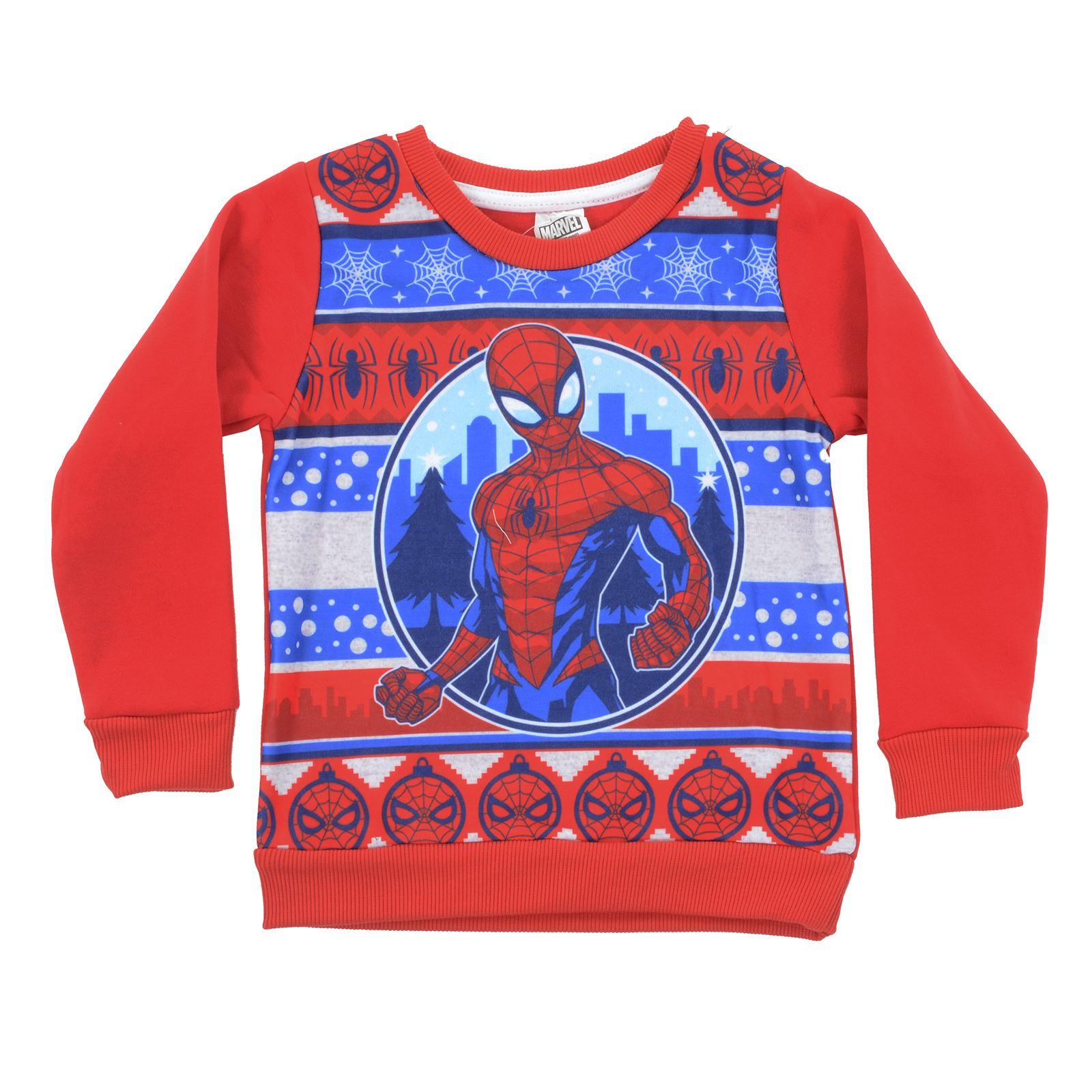 Spiderman Christmas.Details About Kids Marvel Spiderman Christmas Jumper Red Sweatshirt Xmas Spidey Superhero