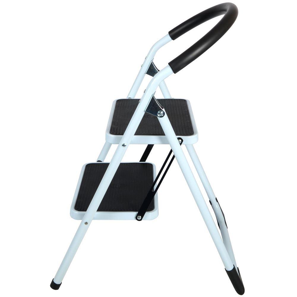 Kitchen Stools Uk Only: 2 Step Non-Slip Tread Folding Step Ladder Kitchen Stool