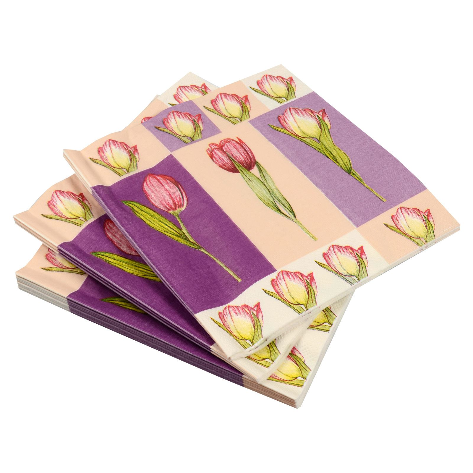 6 12 one square Background is white 3ply 13 open Pink Roses and buds paper napkins
