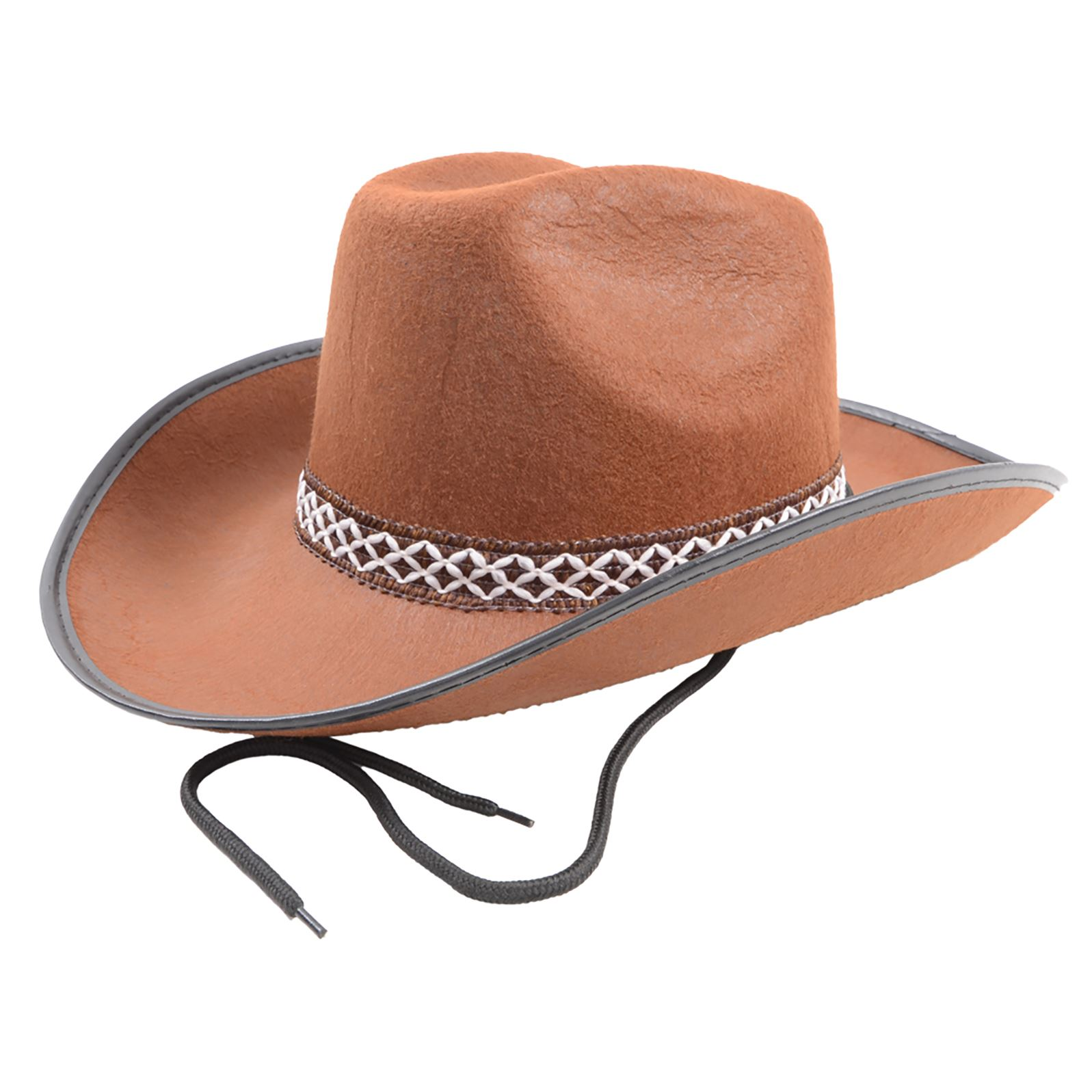 399f3ab6062fd Brown Felt Cowboy Cowgirl Wild West Sheriff Stetson Fancy Dress Party  Outfit Hat