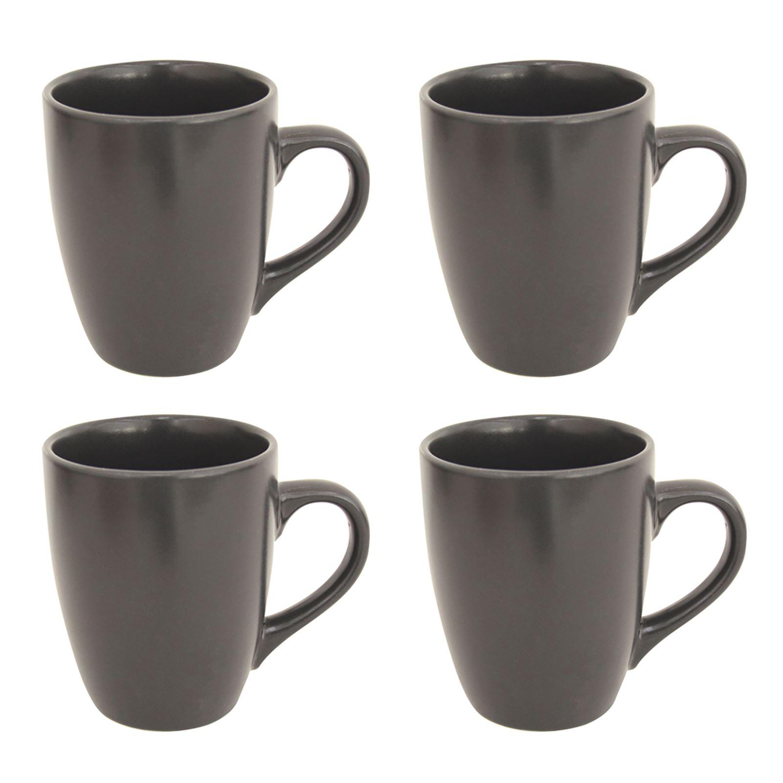 Stoneware 120oz Tea Mugs Coffee Cups Set Of 4 Matt Colour ...