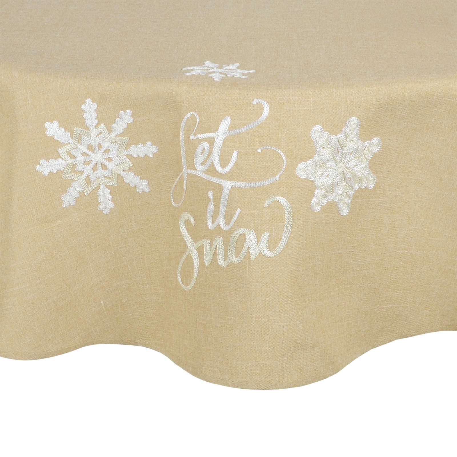 Christmas-Tablecloth-Festive-Pattern-Rectangle-Round-Fabric-Xmas-Room-Decoration Indexbild 102