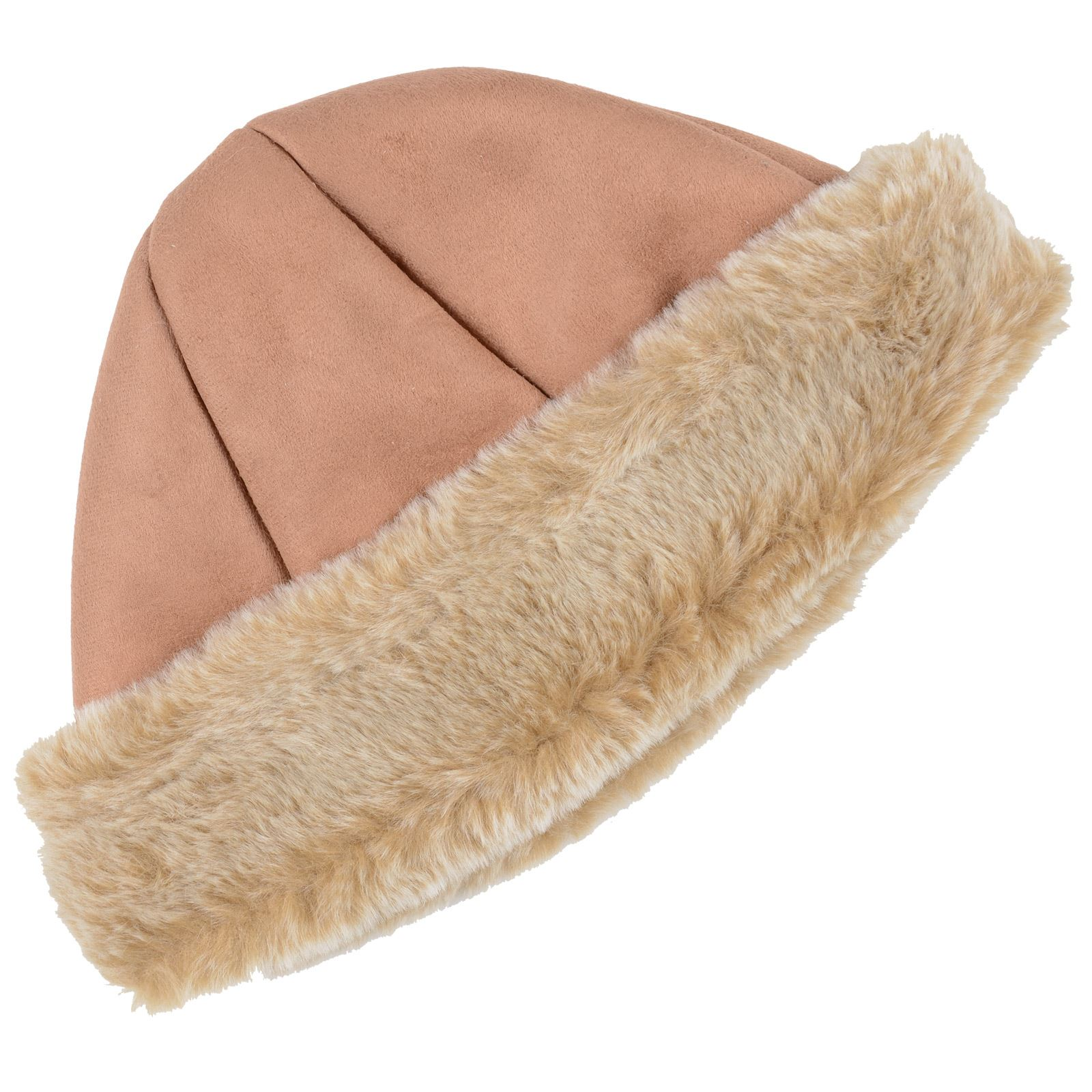 5ffaf9593e668 Details about New Pia Rossini Ladies Cossack Hat Faux Sheepskin / Suede &  Fur Camel Or Tan