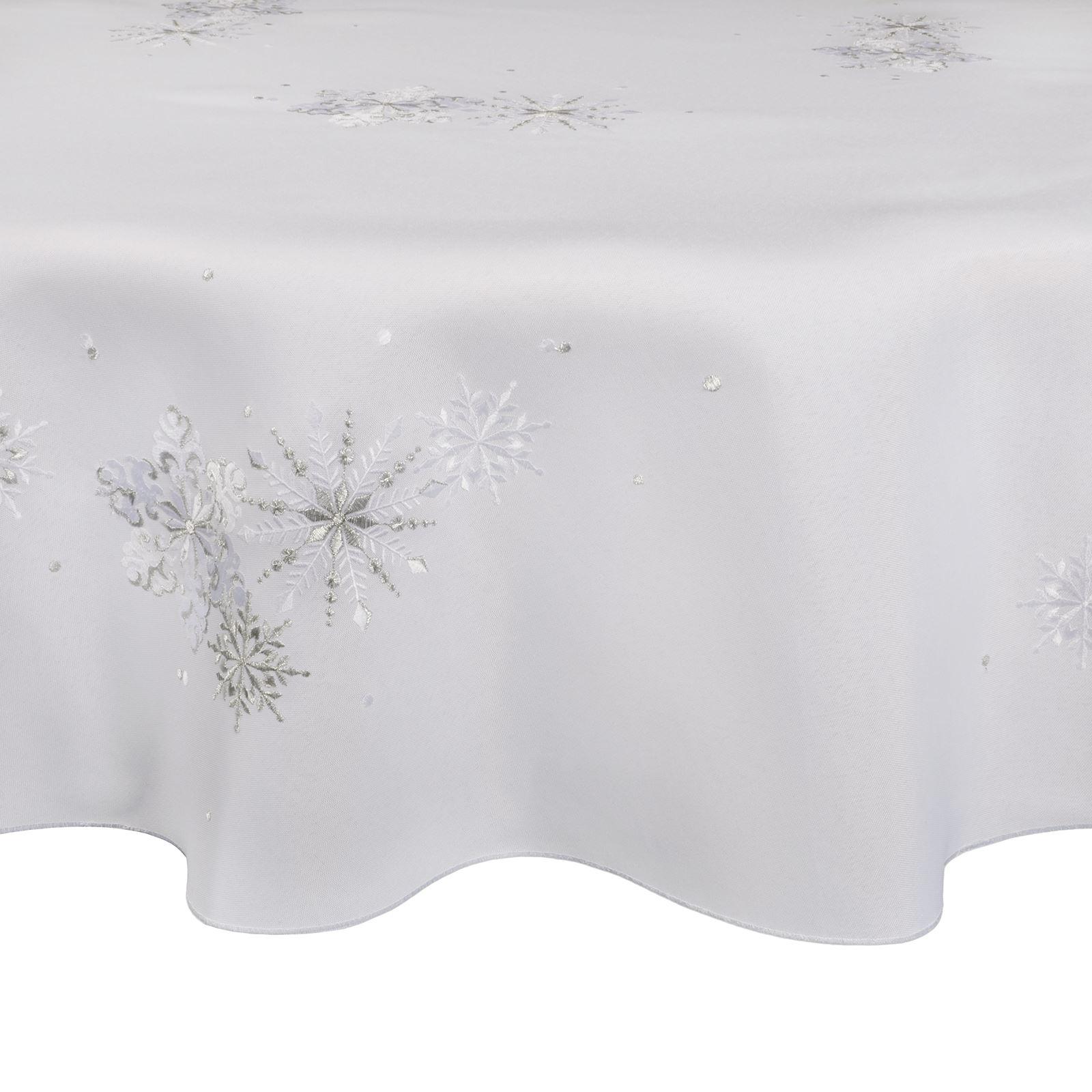 Christmas-Tablecloth-Festive-Pattern-Rectangle-Round-Fabric-Xmas-Room-Decoration Indexbild 33