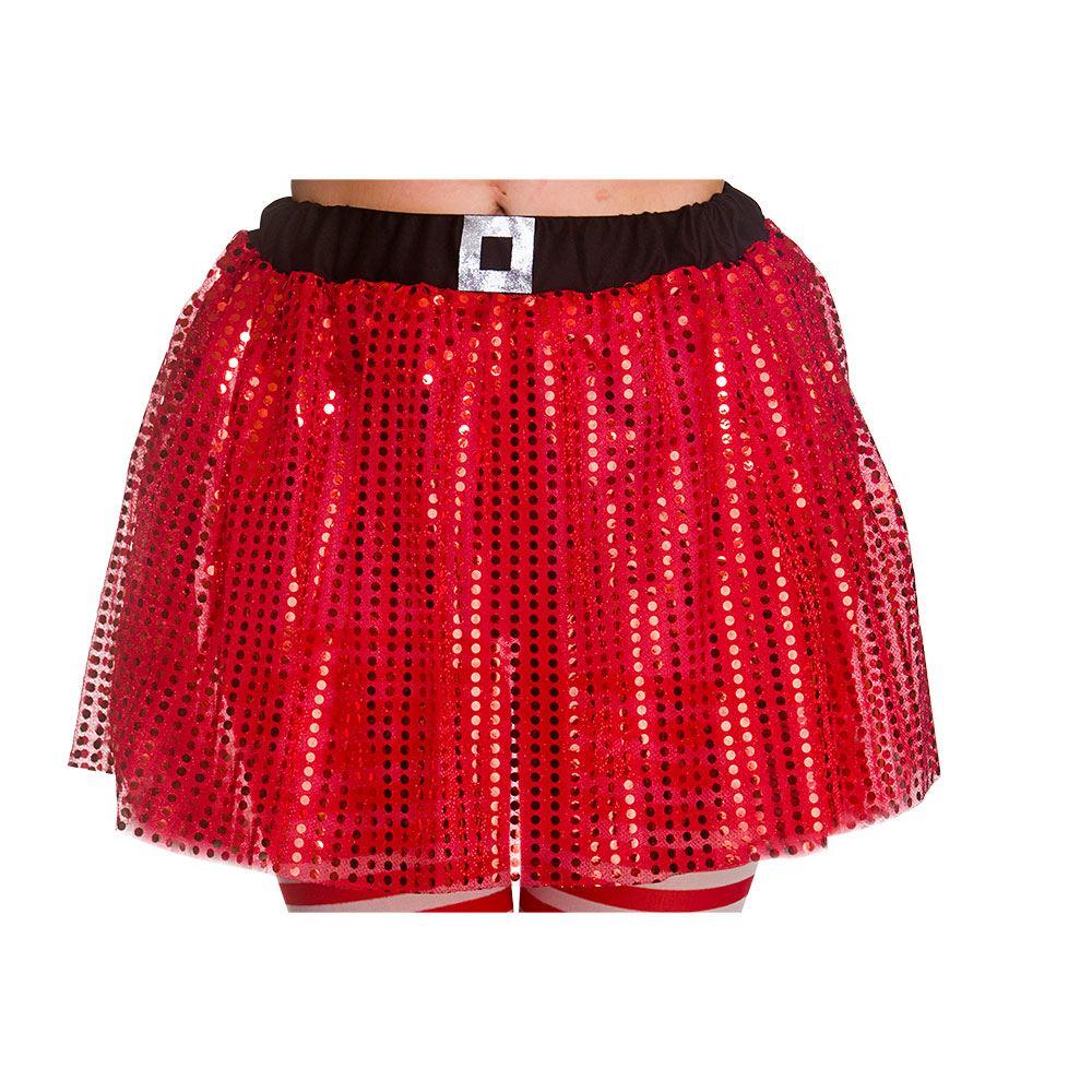 a3cde6be24 Adults Christmas Tutu Red Skirt Ballet Sequin Fancy Dress Halloween One Size