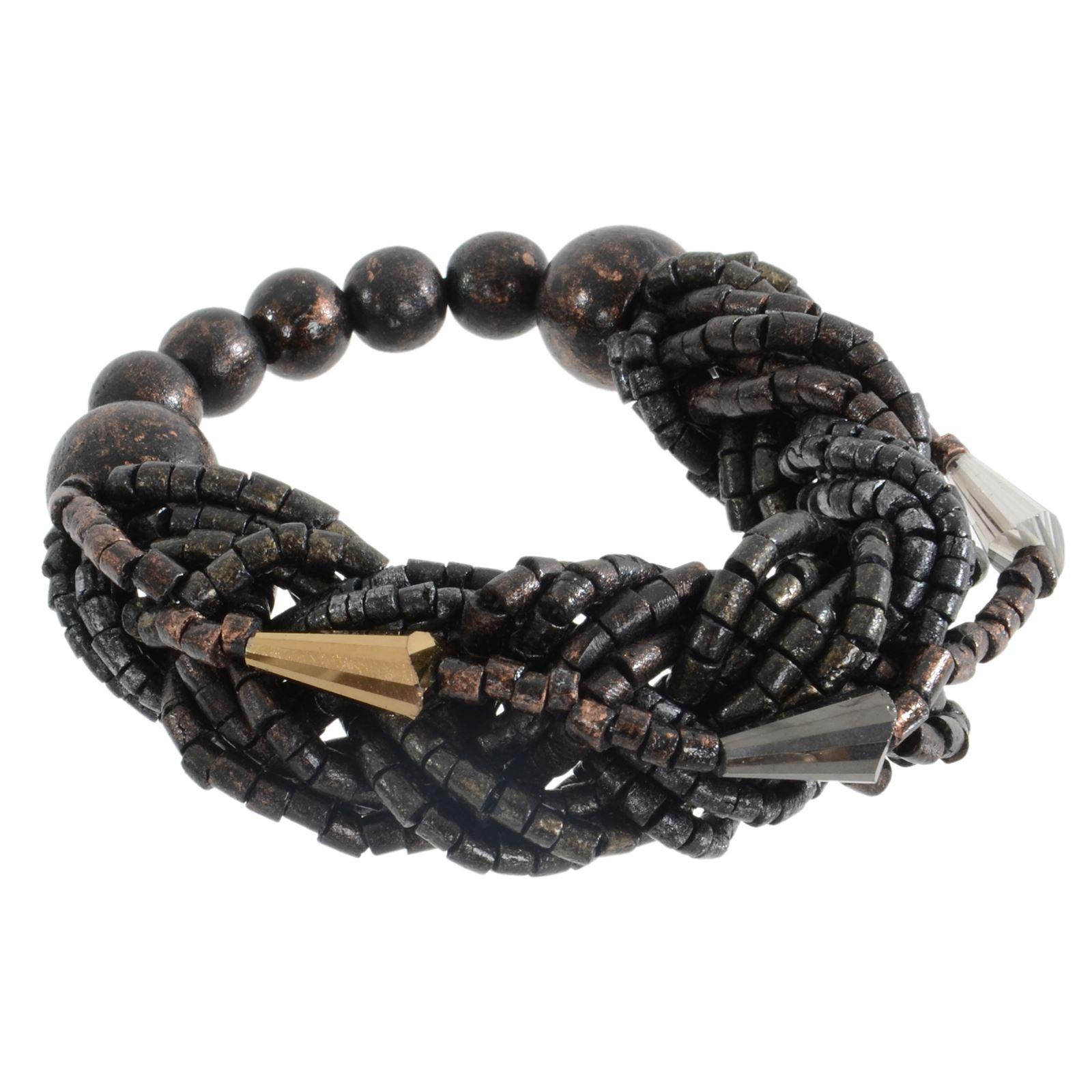 Pia Rossini Lois Bracelet Chunky Beads Strands Stretch Fit Beach Summer Wrist