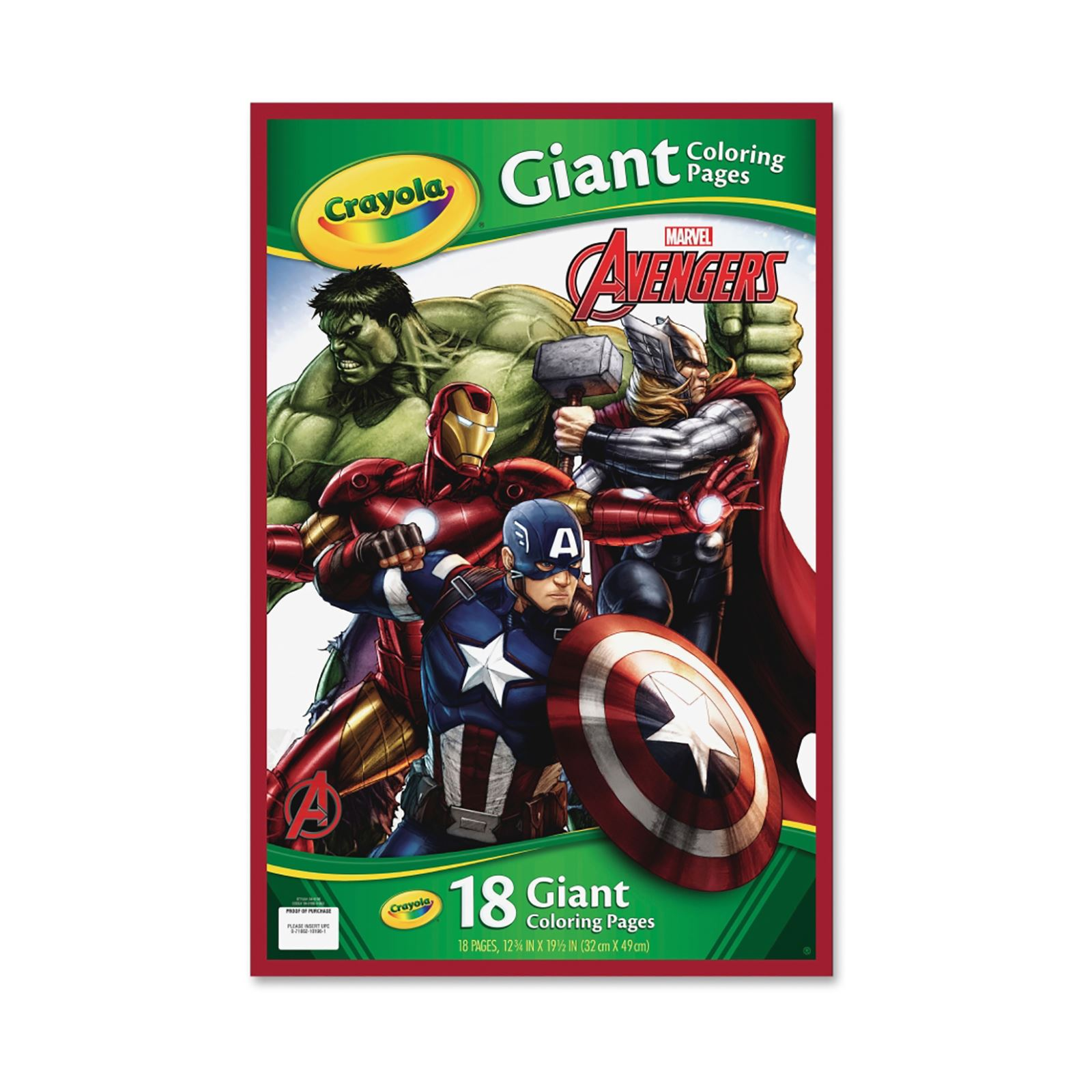 Crayola 49cm Giant Colouring Pages Avengers Power Rangers Princess ...