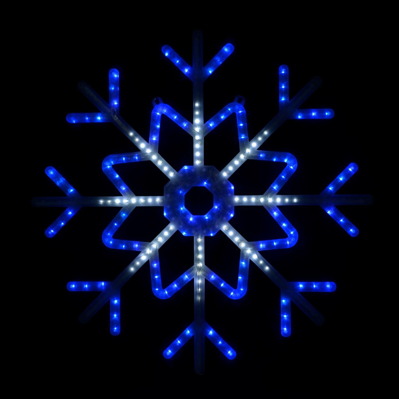 Blue/White LED Flashing Snowflake Outdoor Christmas Light ...