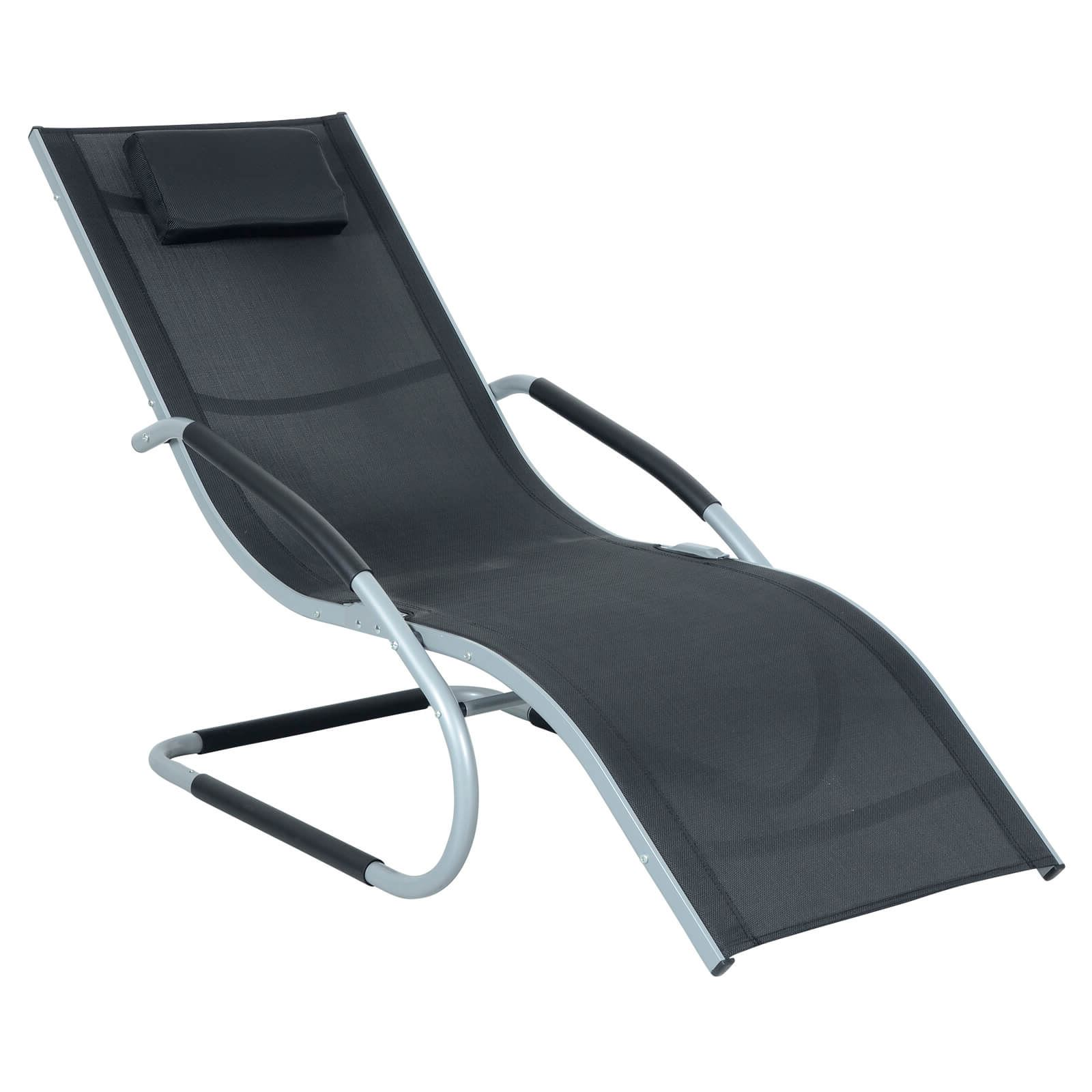 Sensational Details About Infinity Sun Lounger Azuma Outdoor Black Textilene Relaxer Chair Silver Frame Creativecarmelina Interior Chair Design Creativecarmelinacom