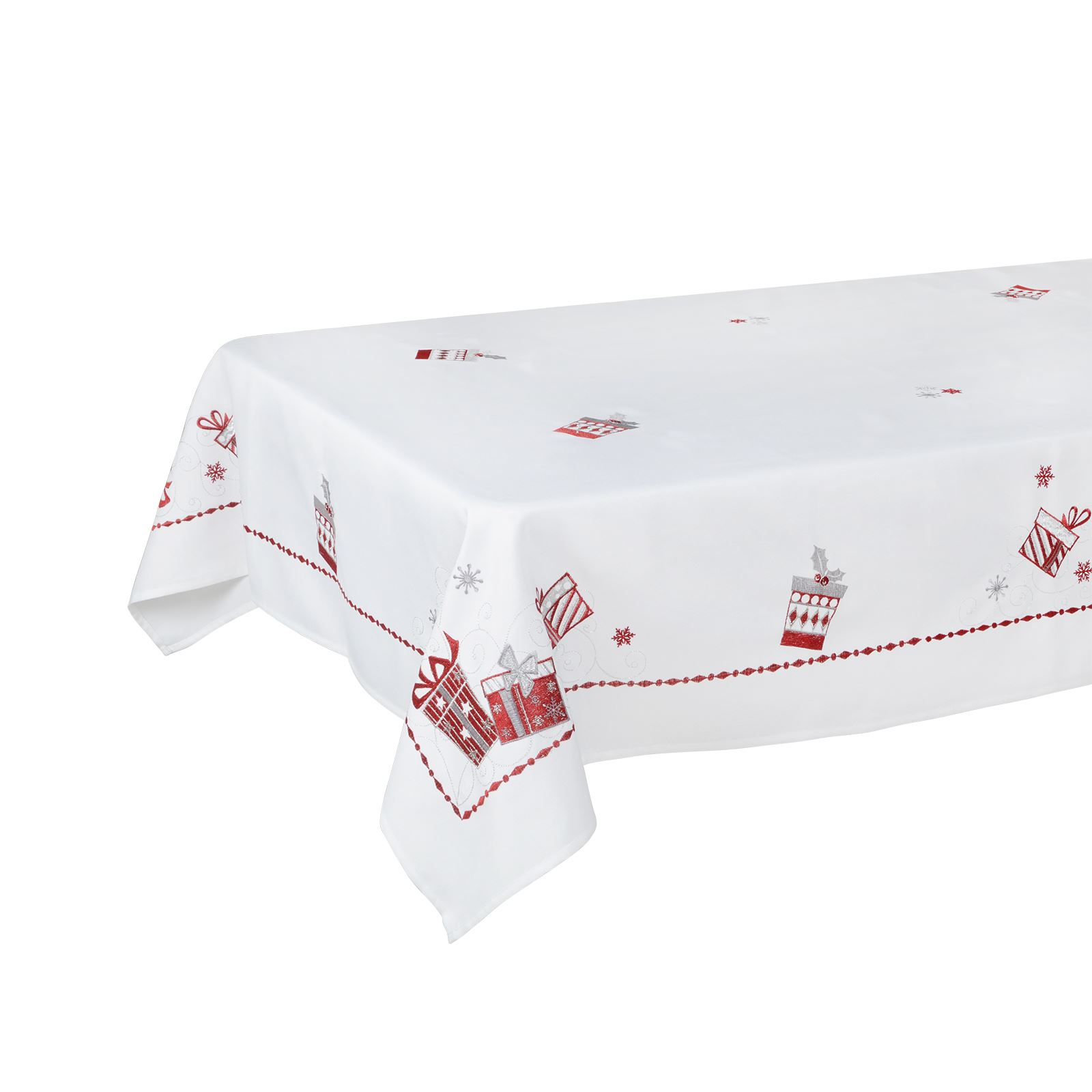 Christmas-Tablecloth-Festive-Pattern-Rectangle-Round-Fabric-Xmas-Room-Decoration Indexbild 76