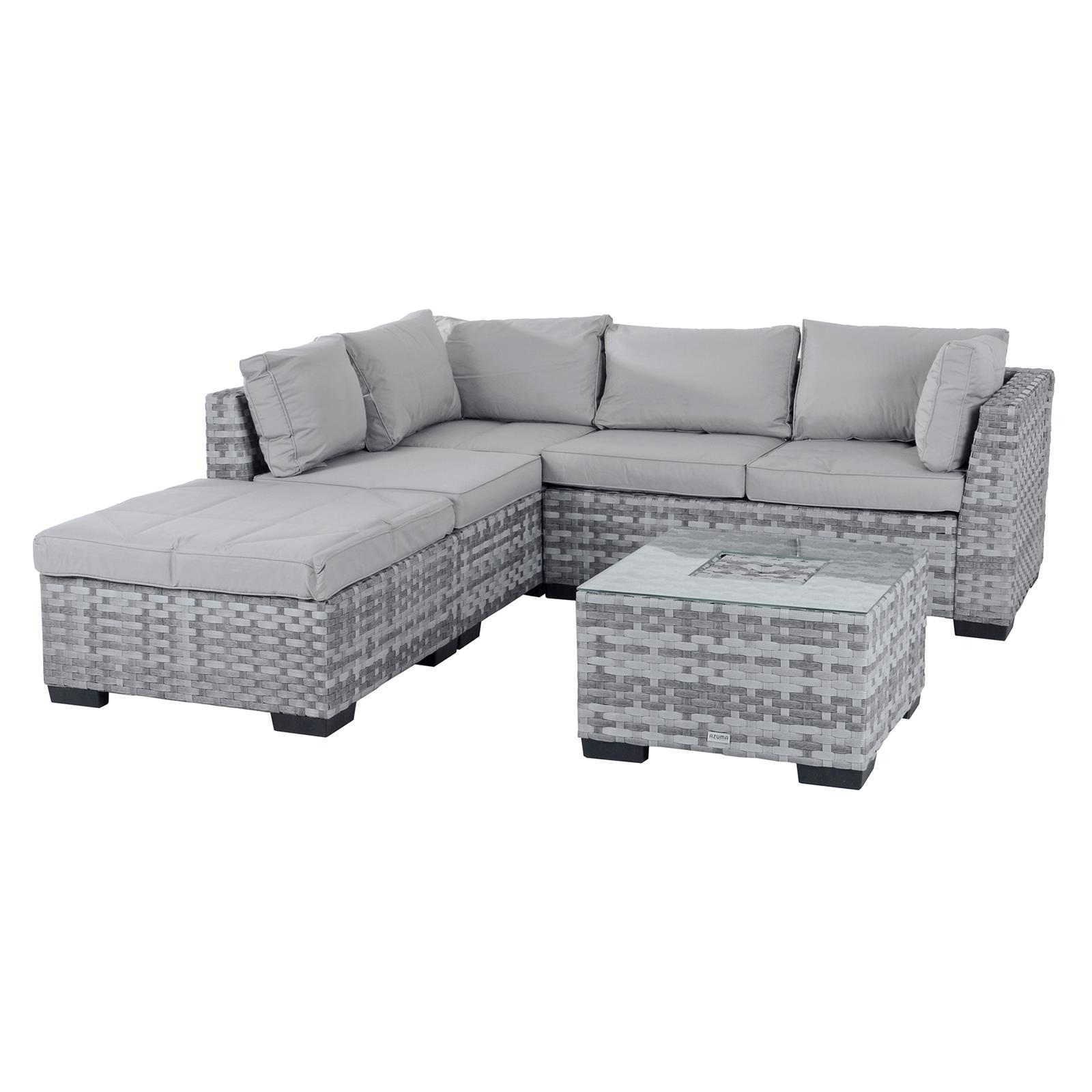 Terrific Details About Garden Sofa Set Azuma Cannes Aluminium Rattan Corner Furniture Set Ice Table Theyellowbook Wood Chair Design Ideas Theyellowbookinfo