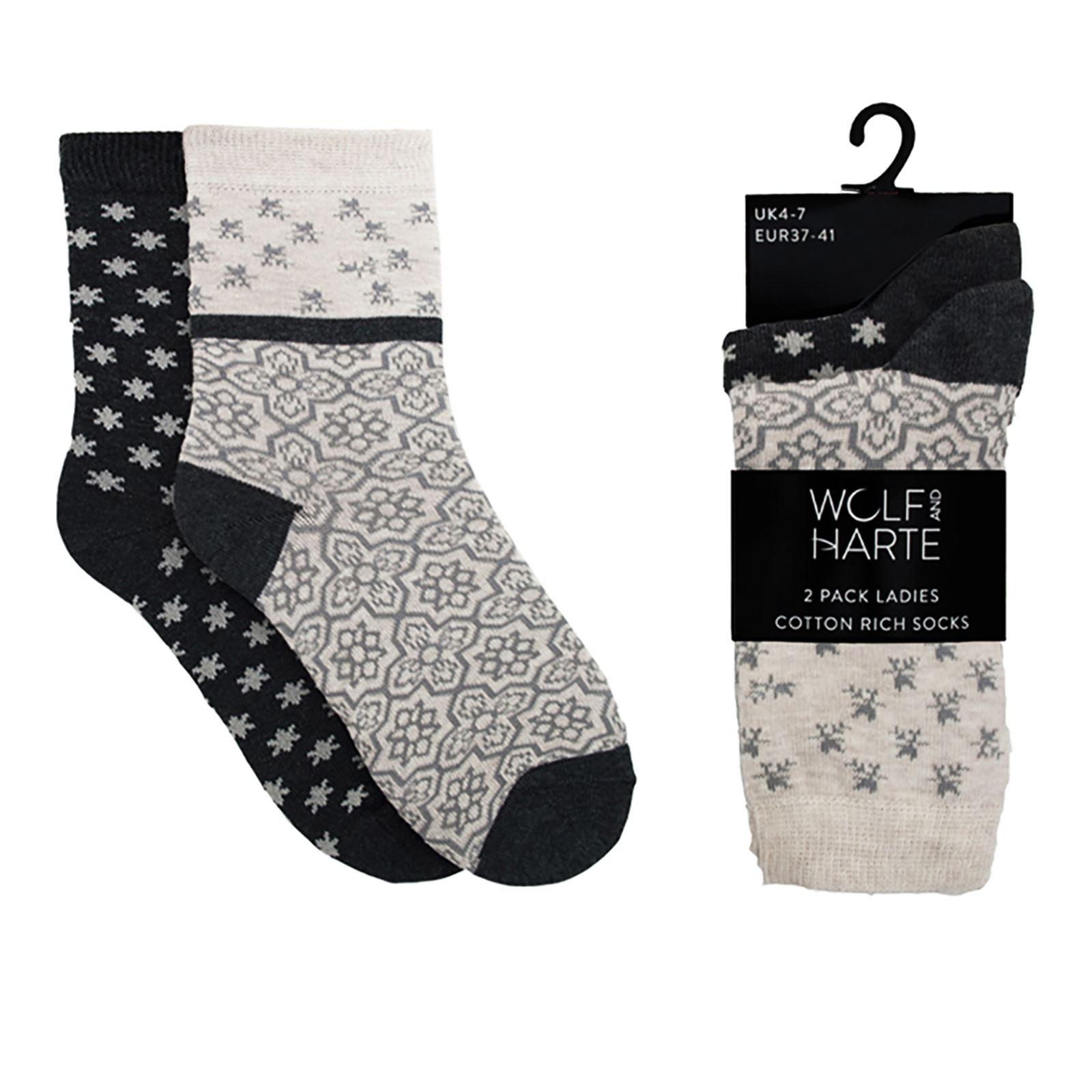 pictures Pack of 2 Ladies Ankle Socks - KL-22