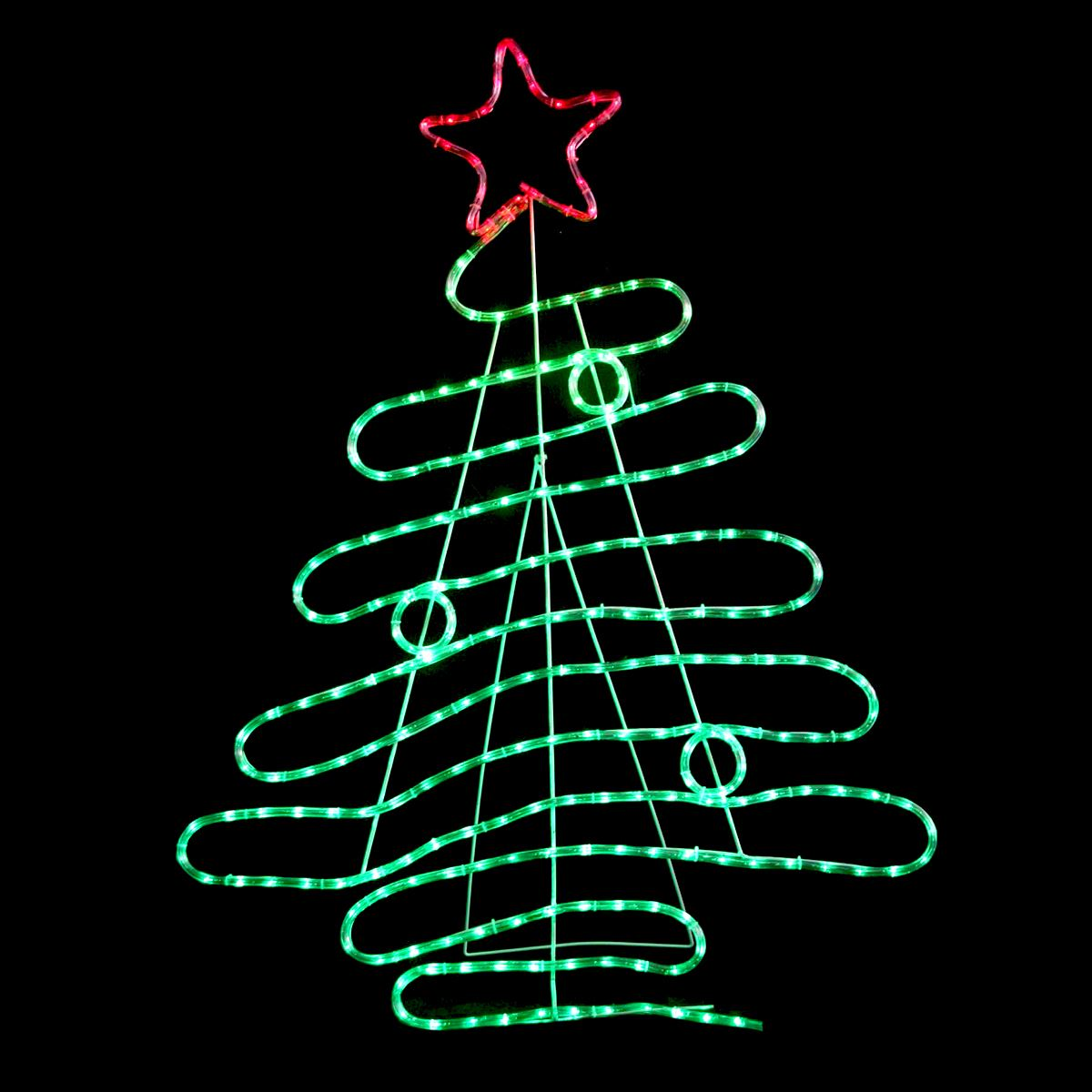 best cheap d4f1c 812b6 Details about 120cm Red & Green LED Rope Light Christmas Tree Shape  Indoor/Outdoor Decoration
