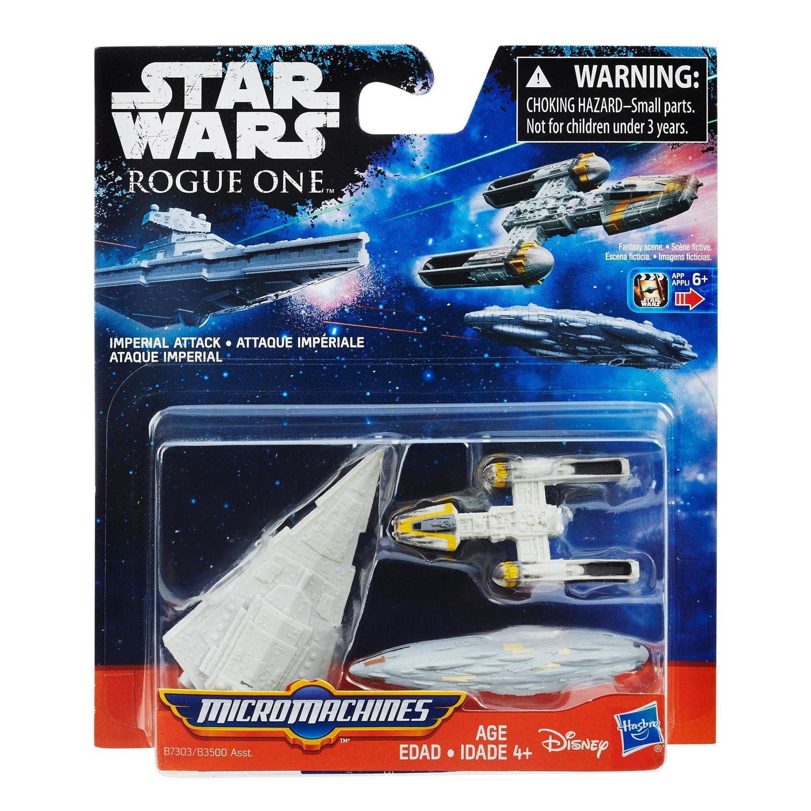 Star Wars Rogue One Micro Machines 3 Pack of iconic Movie Vehicles ...