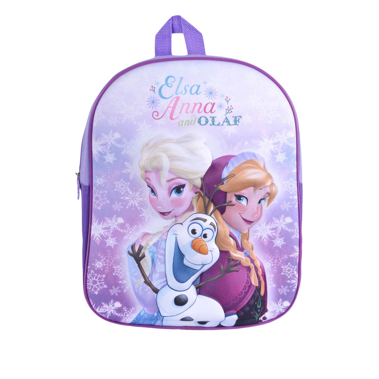 Details about Kids Disney Frozen Backpack Princess Elsa Anna Olaf 3D School  Bag Girls Junior 9ddcf0cd962cc