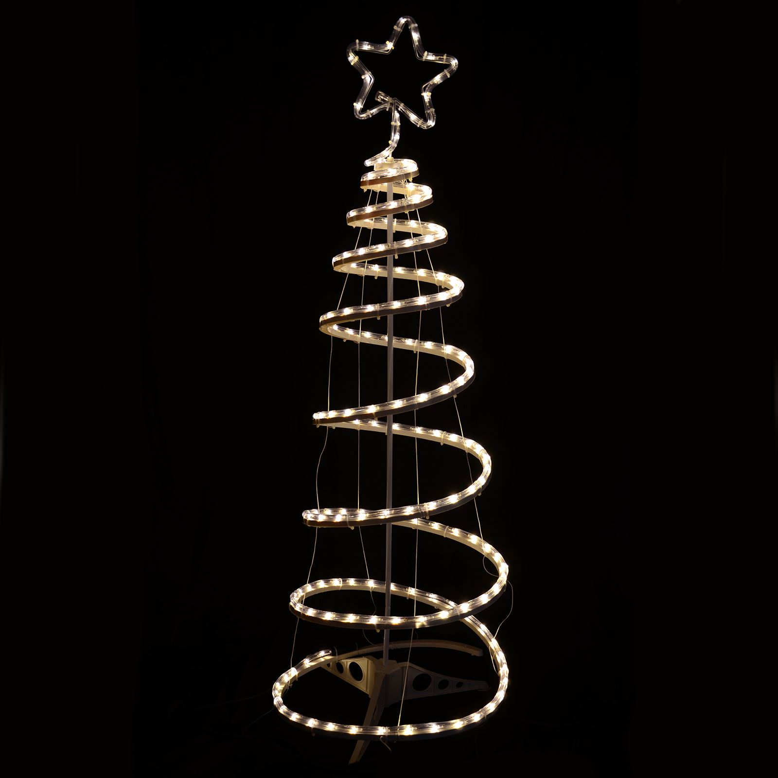 new styles 04d32 c3909 Details about Multi-Action Warm White Spiral Tree Christmas Xmas Rope Light  Indoor / Outdoor