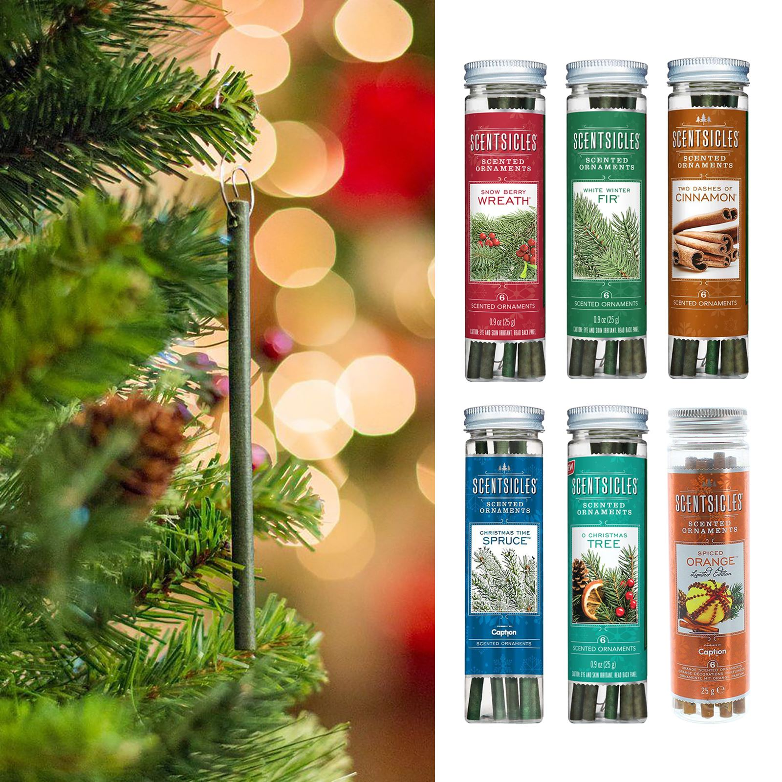 Scentsicles Scented Sticks Hanging Christmas Tree Decorations Buy 3