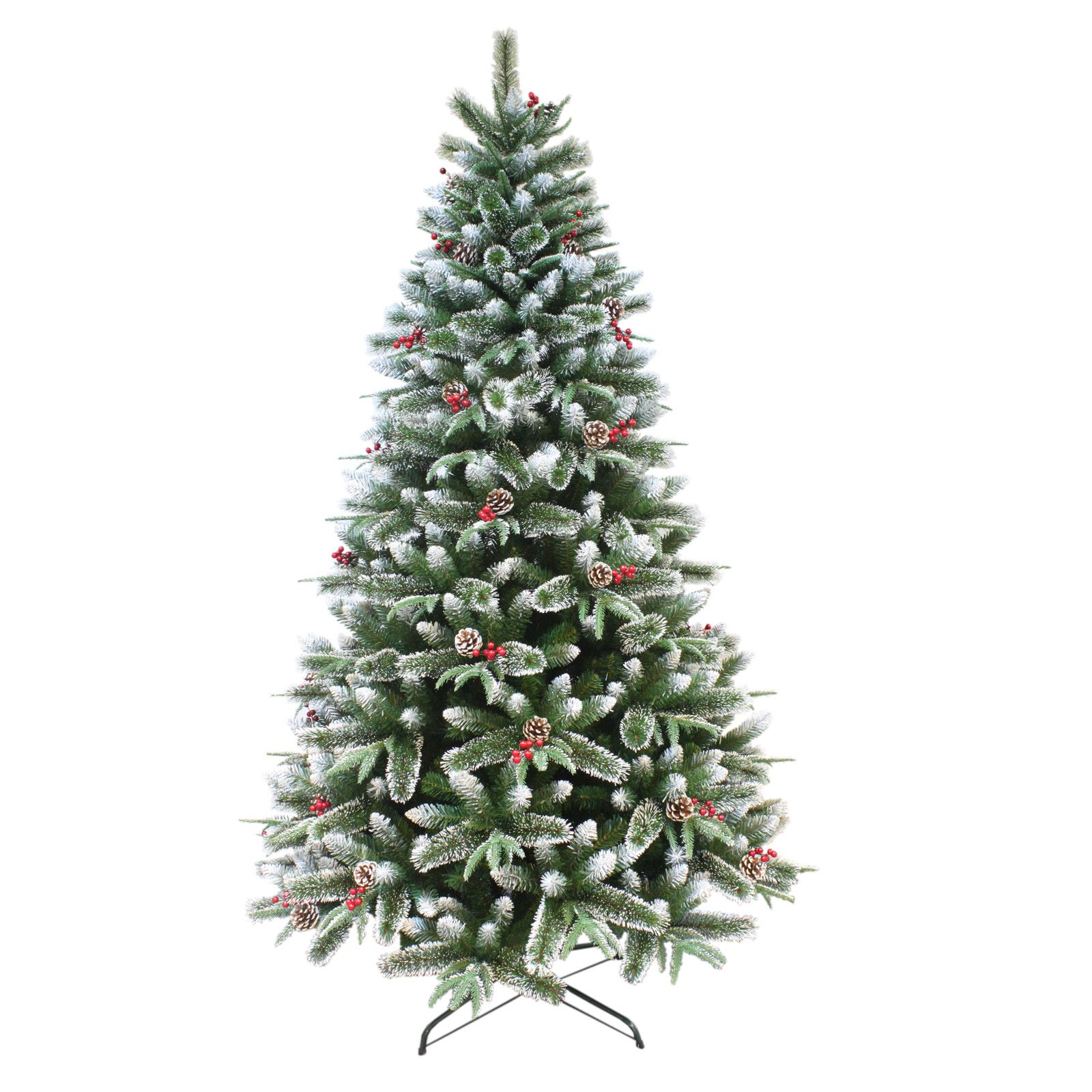 Luxurious Christmas Trees: Gorgeous Luxury Snow Frosted Mixed Pine Artificial
