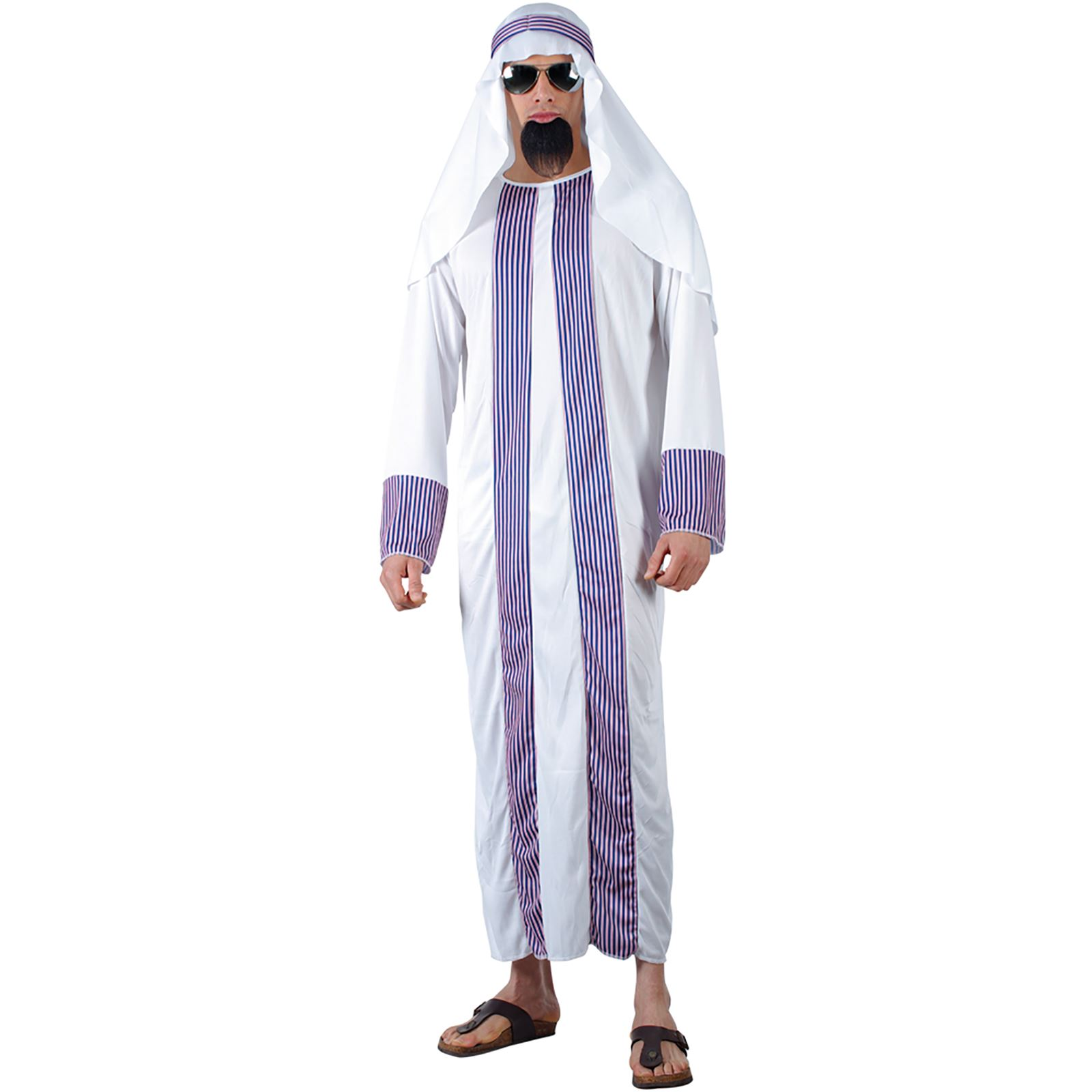 Mens Arab Sheik Style Fancy Dress Halloween Costume  sc 1 st  eBay : sheik halloween costume  - Germanpascual.Com