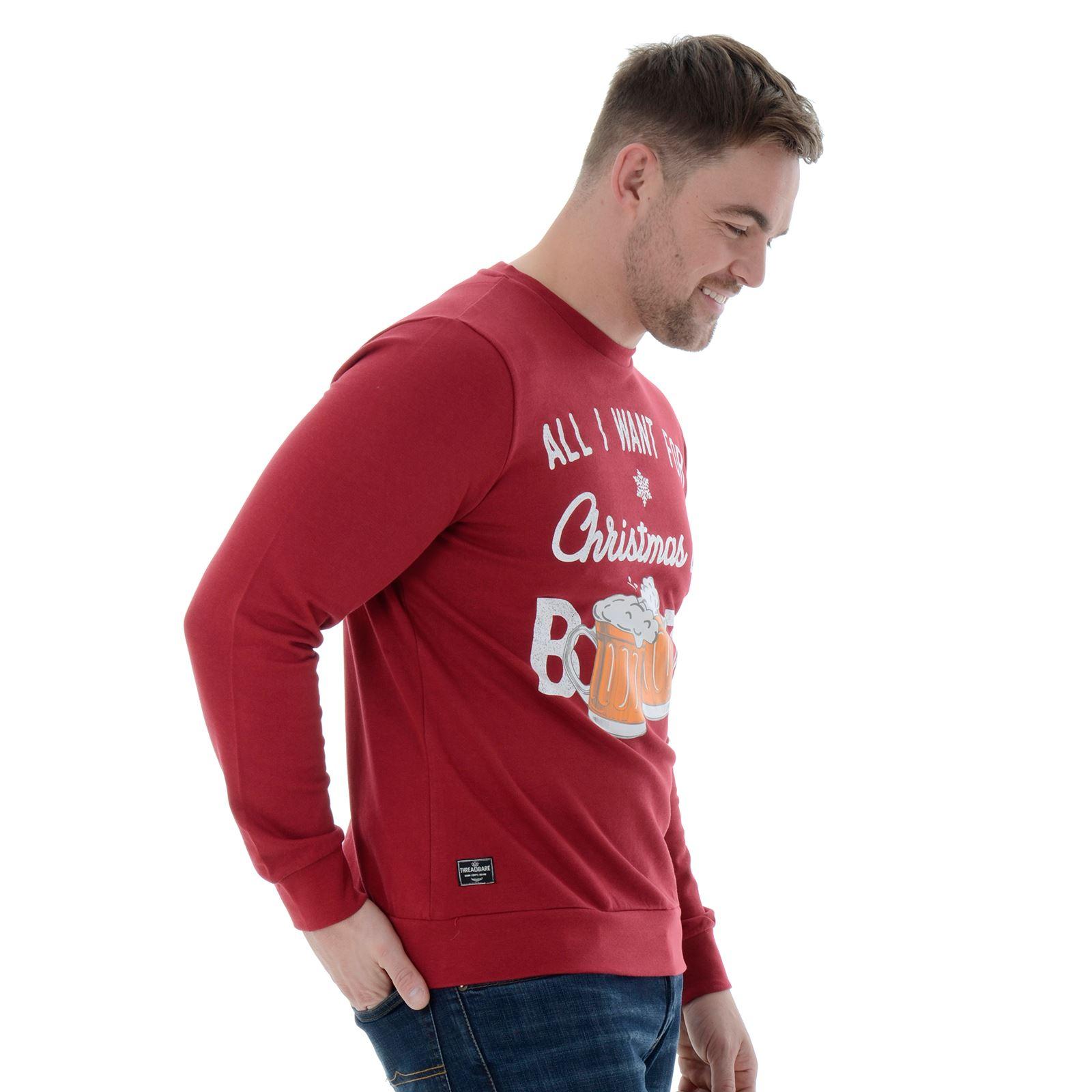 Da Uomo Novità Divertente Natale Maglione Natale Felpa ...
