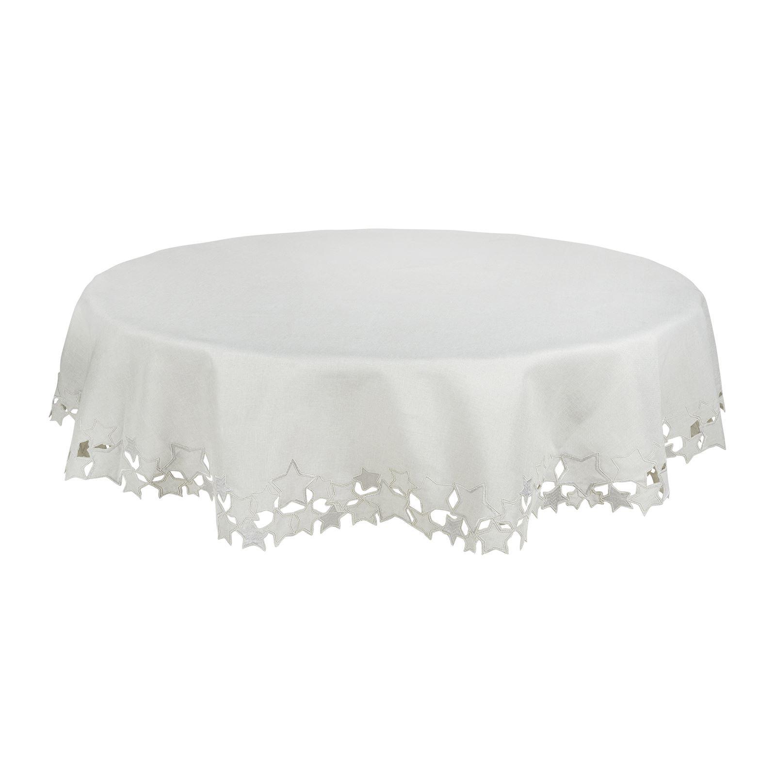 Christmas-Tablecloth-Festive-Pattern-Rectangle-Round-Fabric-Xmas-Room-Decoration Indexbild 137