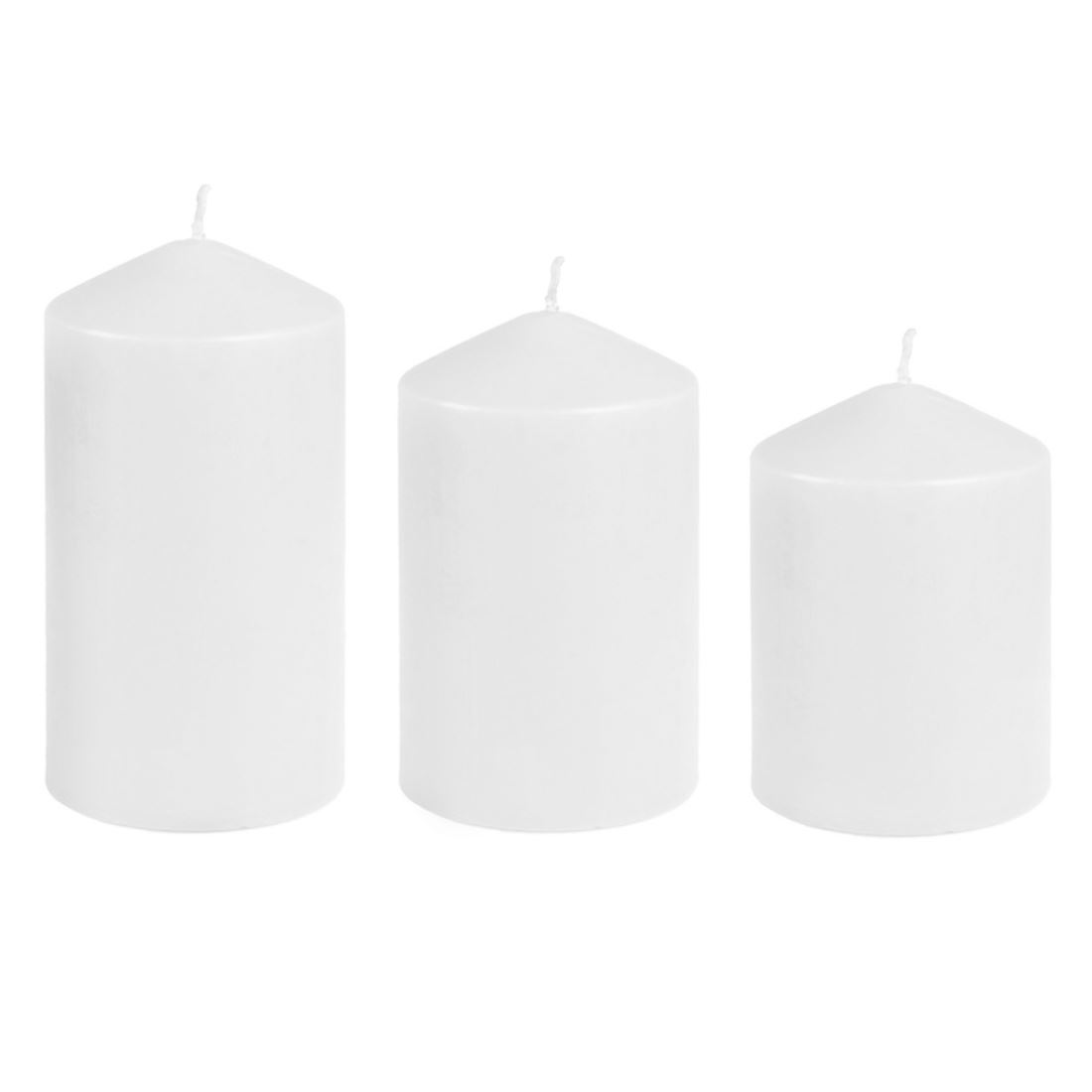 New-3-Pack-Baltus-Spiced-Apple-Warm-Vanille-Scented-Pillar-Wax-Candles-Red-Ivory