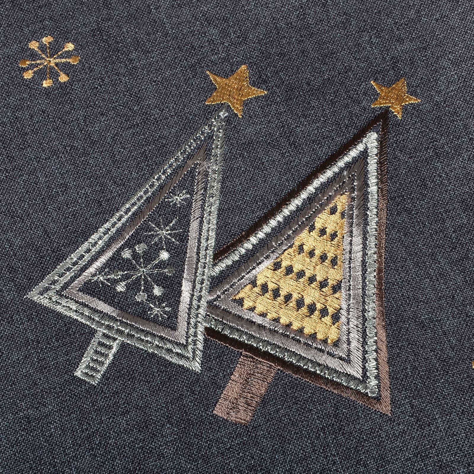 Christmas-Tablecloth-Festive-Pattern-Rectangle-Round-Fabric-Xmas-Room-Decoration Indexbild 18