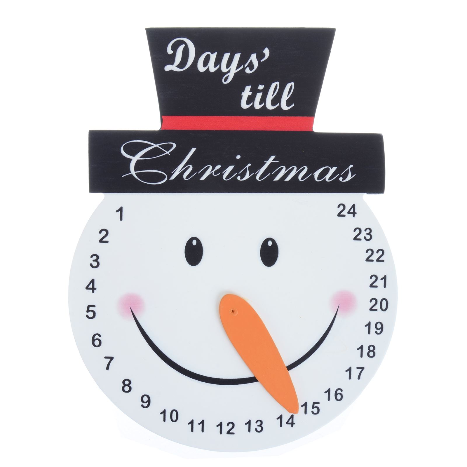 Details About Wooden Snowman Countdown Christmas Advent Calendar Orange Carrot Nose Pointer