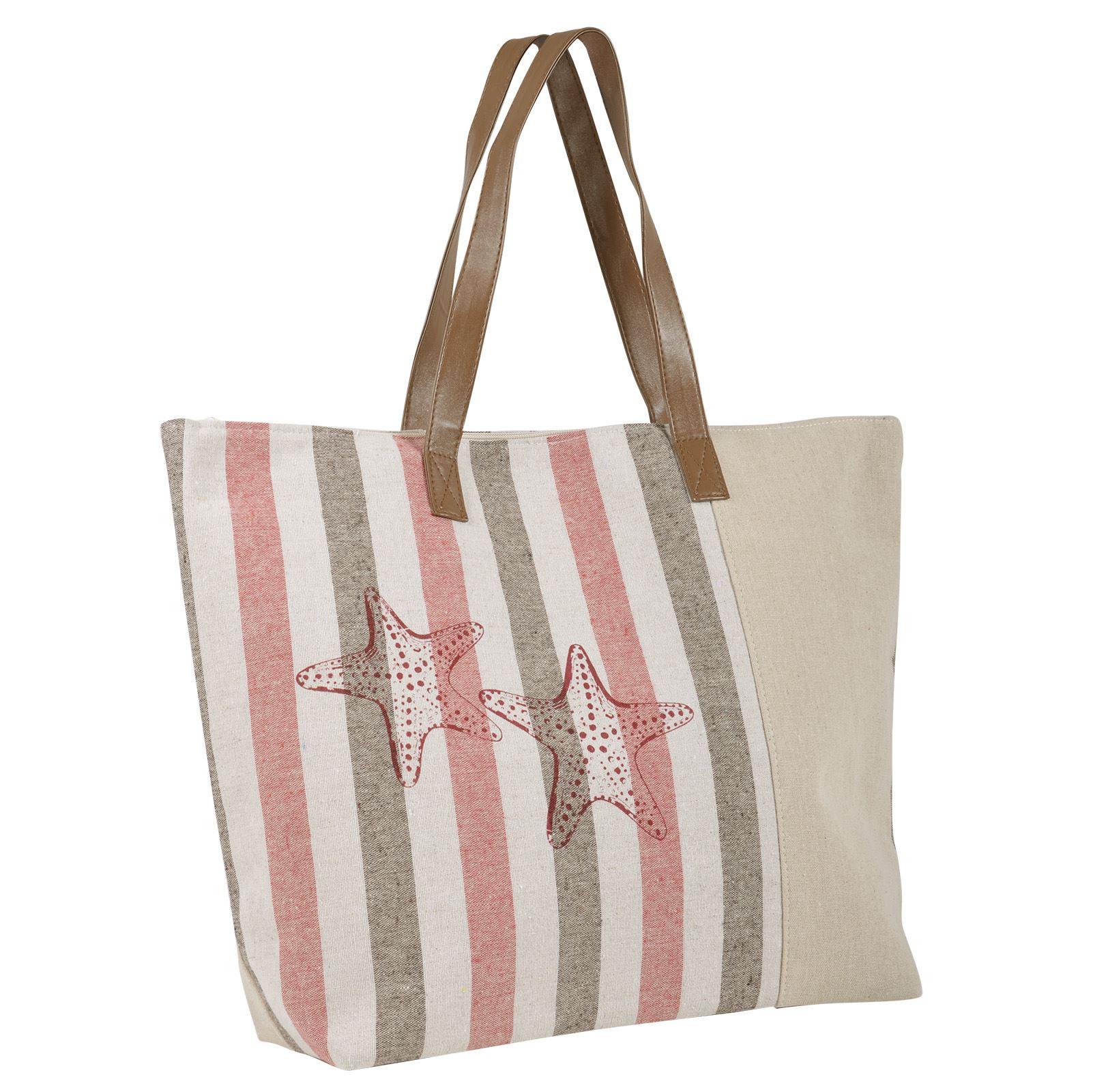 d2c7409fd2 Ladies Canvas Beach Shoulder Bag Handbag Shopping Tote Holiday ...