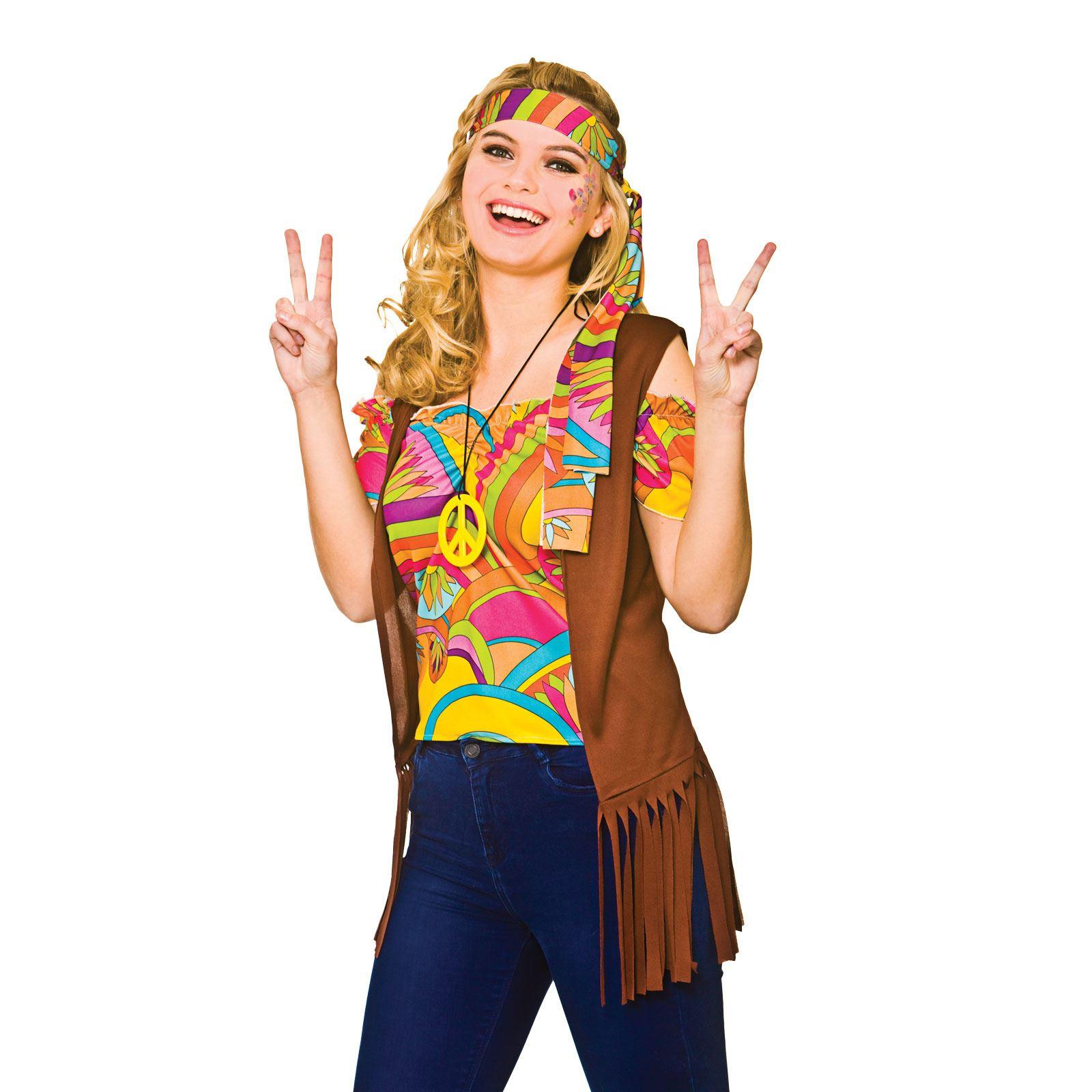 ladies cool hippie woodstock 60s sixties halloween fancy dress party