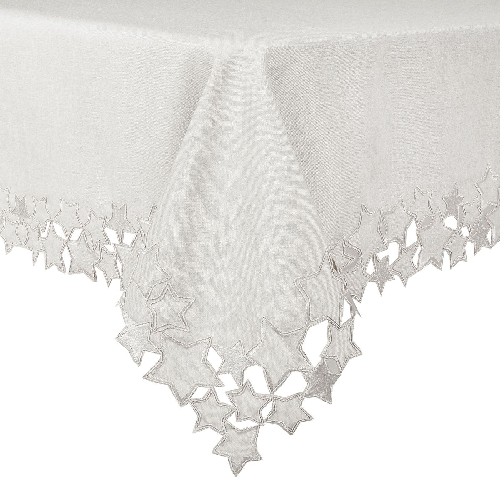 Christmas-Tablecloth-Festive-Pattern-Rectangle-Round-Fabric-Xmas-Room-Decoration Indexbild 135