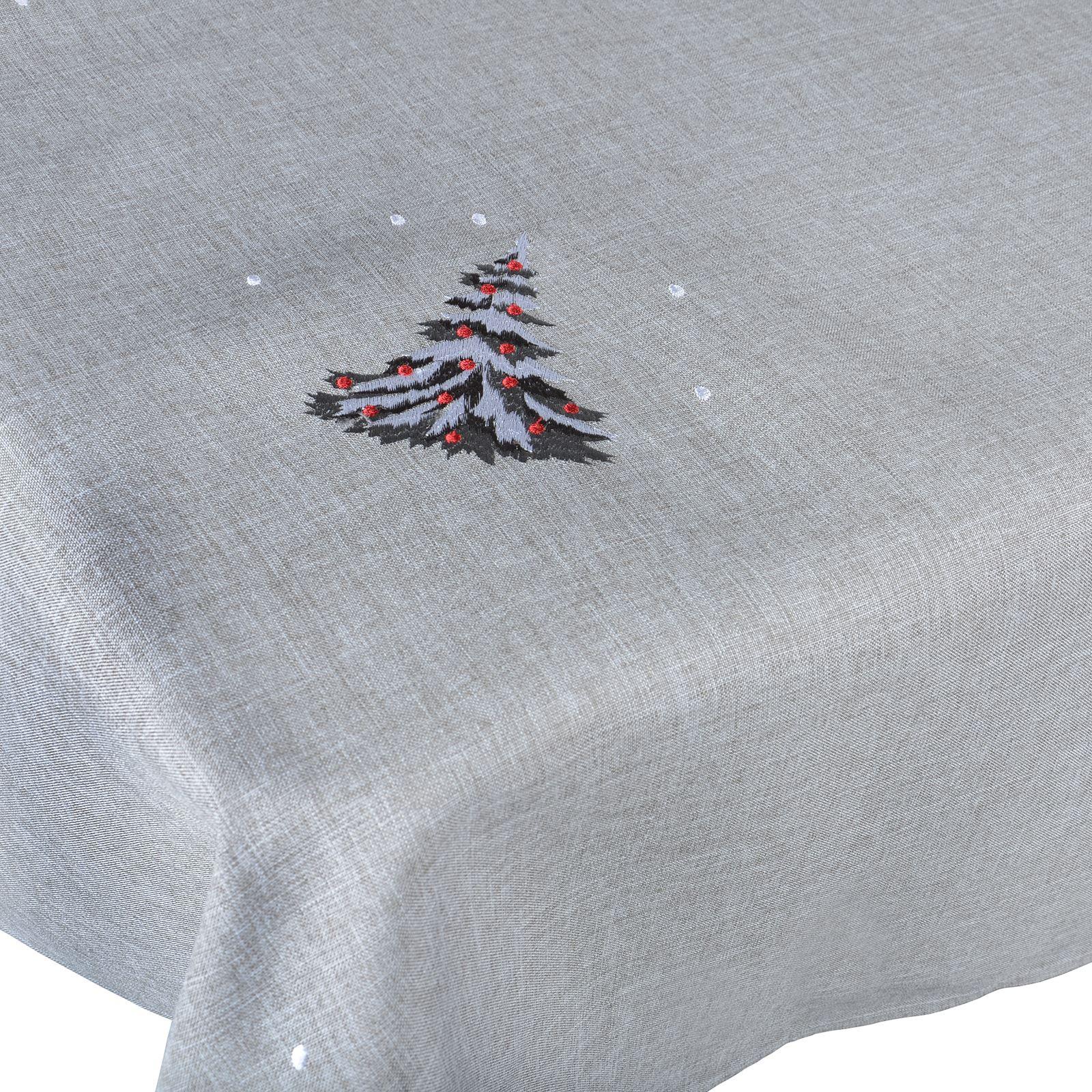 Christmas-Tablecloth-Festive-Pattern-Rectangle-Round-Fabric-Xmas-Room-Decoration Indexbild 52