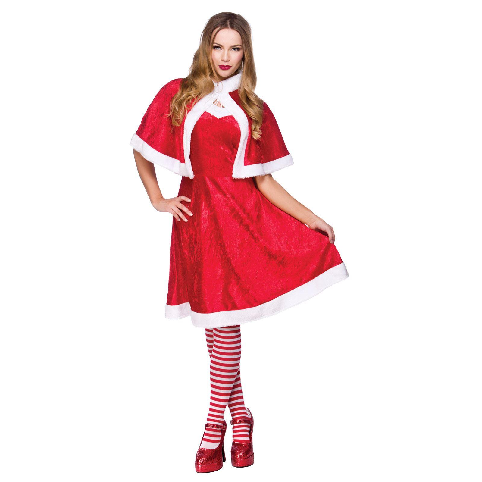 ladies little miss santa clause fancy dress christmas dress up festive costume - Christmas Dress Up