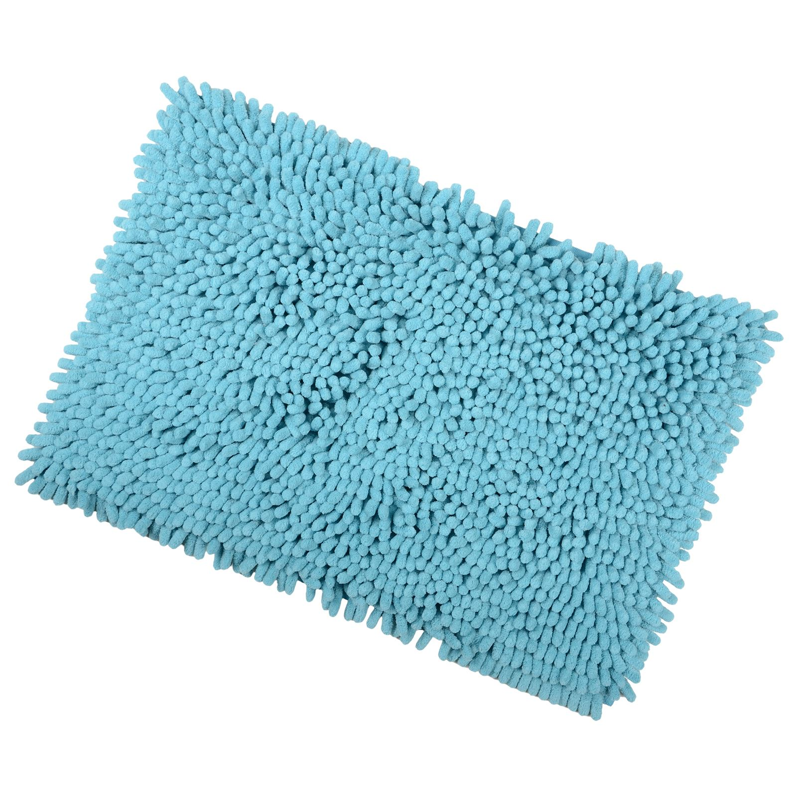 Shaggy Microfibre Bathroom Shower Bath Mat Rug Non Slip Backing 12 Colours Ebay