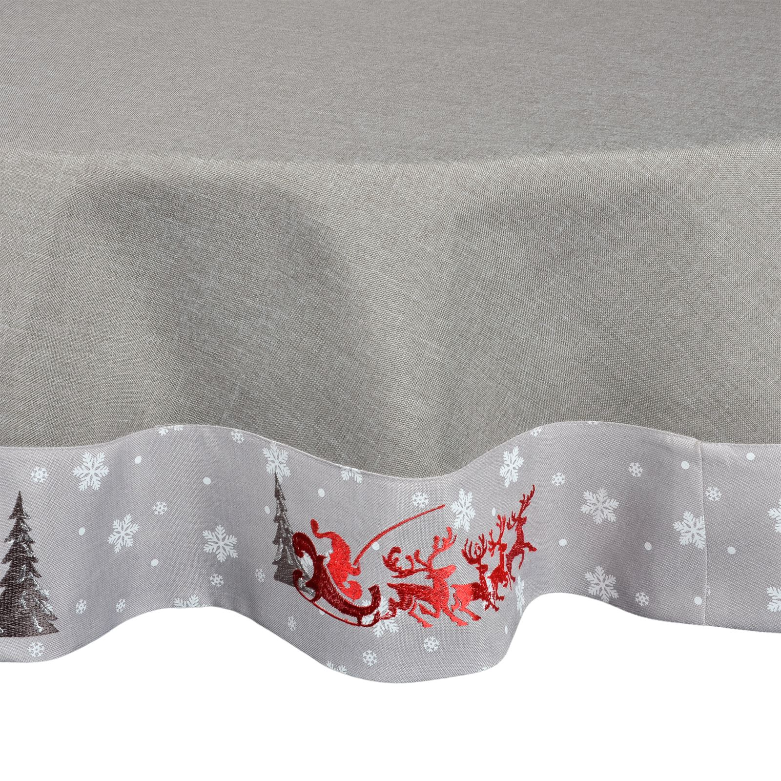 Christmas Tablecloth Festive Pattern Rectangle Round