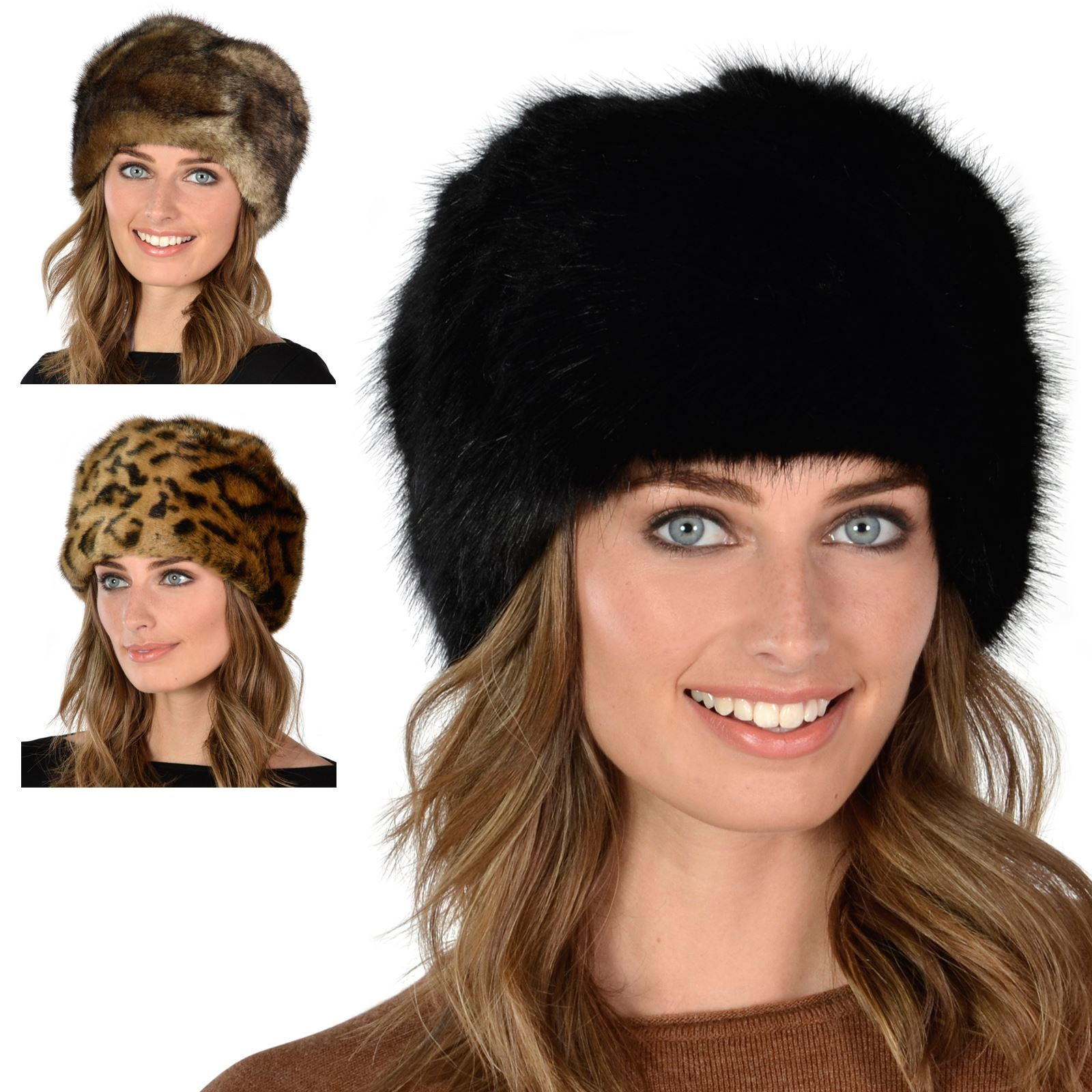 Details about New Ladies Super Soft Stylish Faux Fur Russian Womens Warm  Winter Cossack Hat 5ea30bee68a