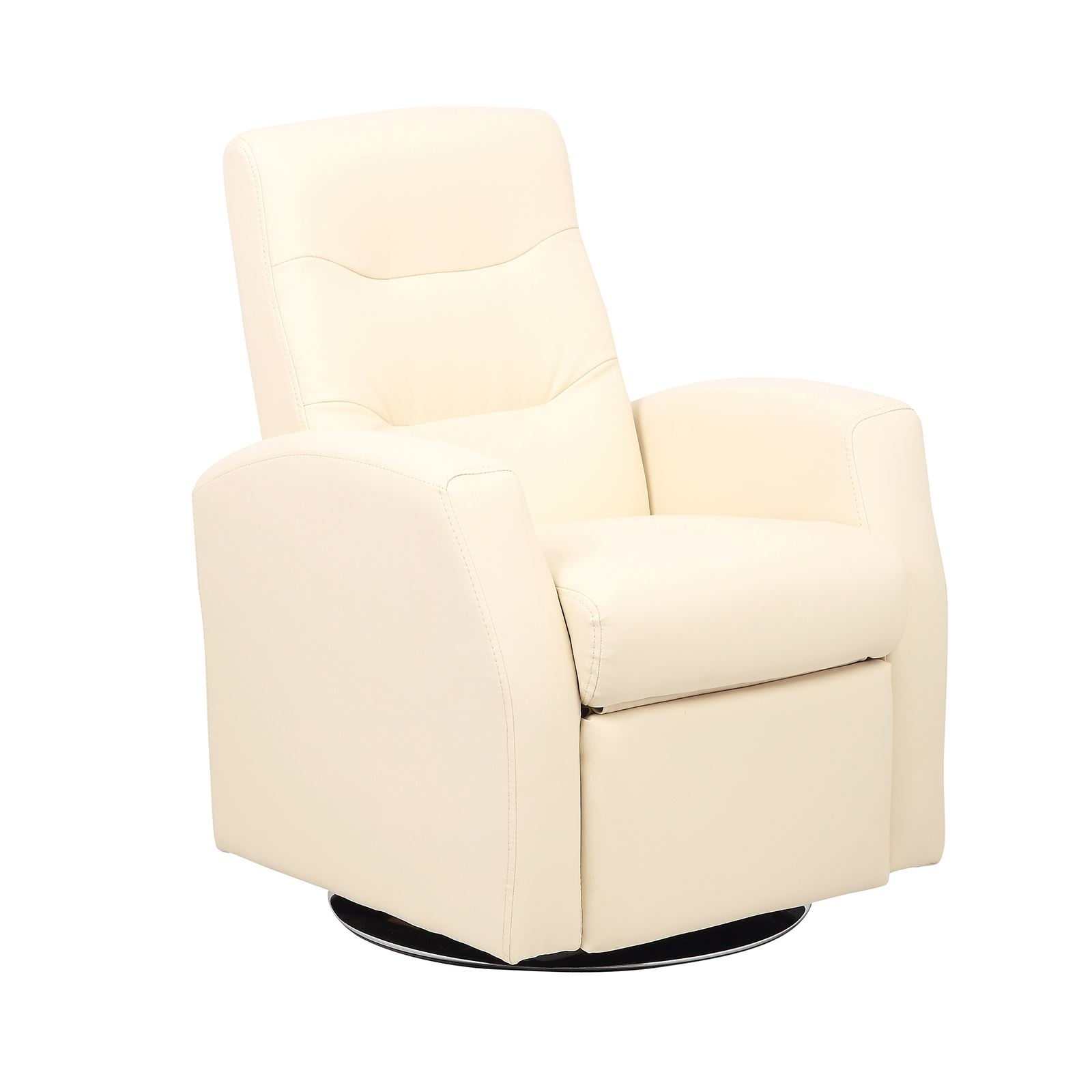 Kids reclining swivel chair living room furniture padded faux leather headrest cream about this product picture 1 of 6 picture 2 of 6 picture 3 of 6
