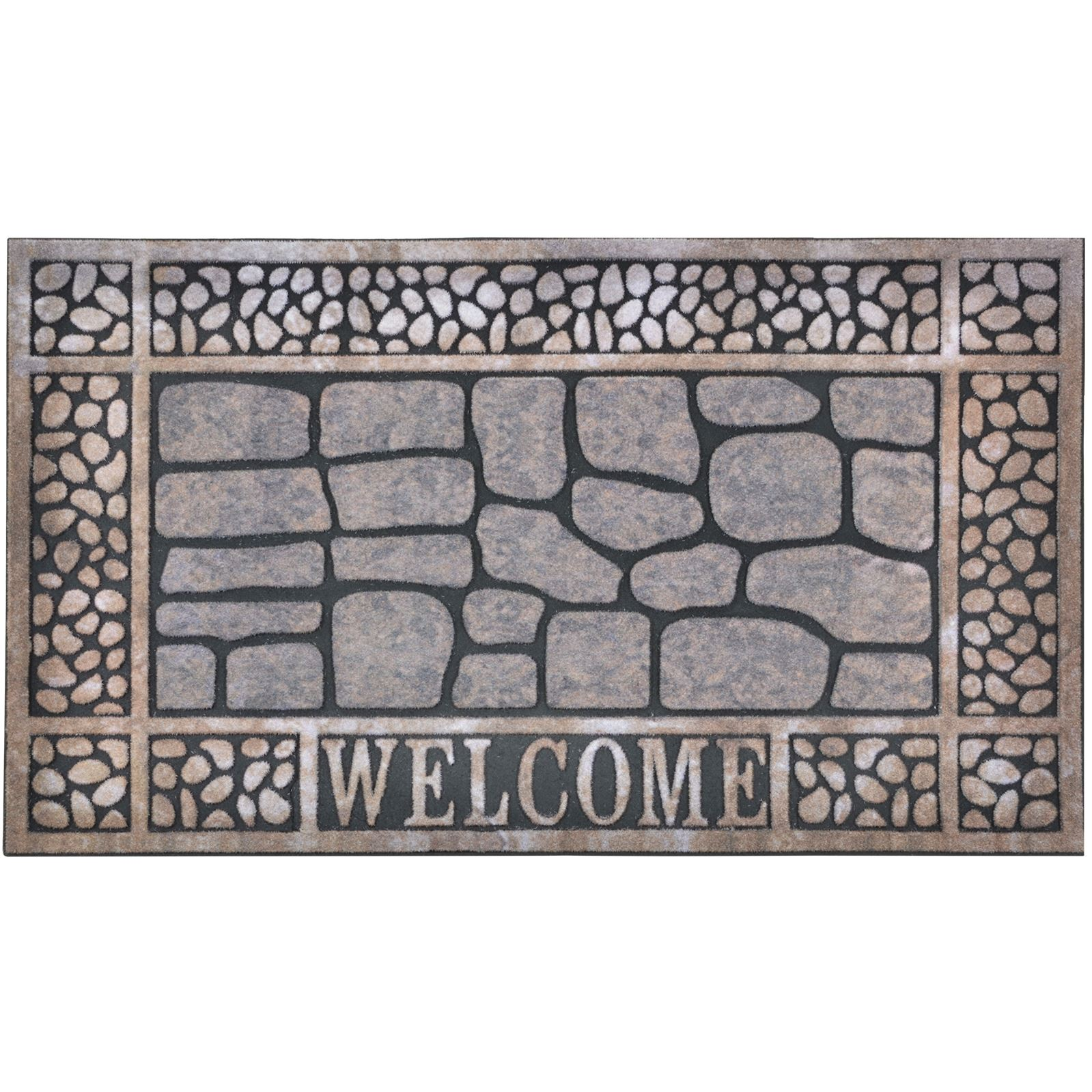 Large 75 X 45cm Heavy Duty Rubber Backed Door Mat Welcome