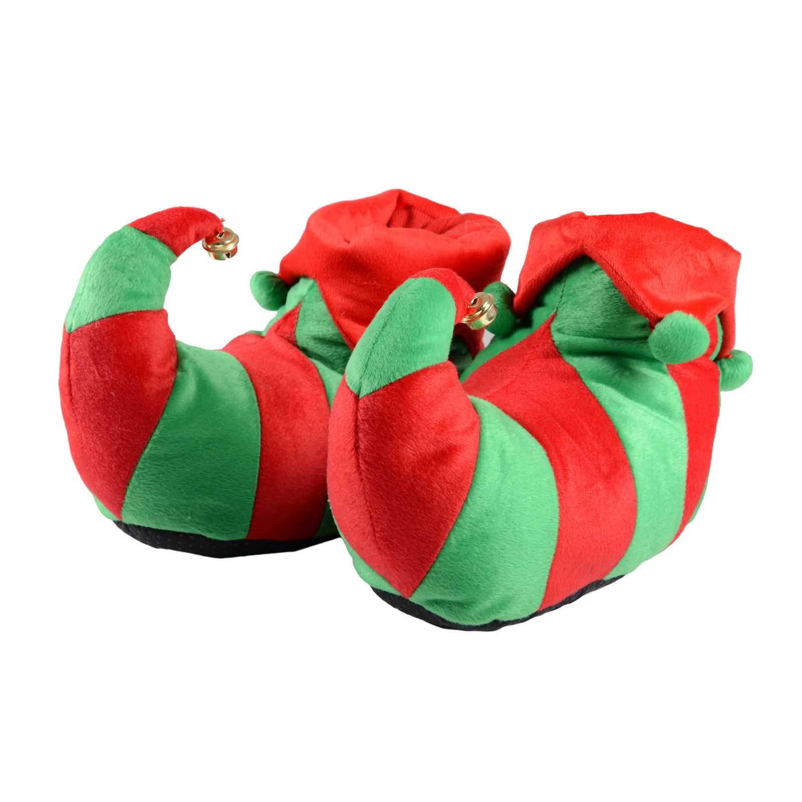 bad0f8b15e25 Details about Womens   Mens Adult Elf Shoes Red   Green Christmas Slippers    Non Slip Soles