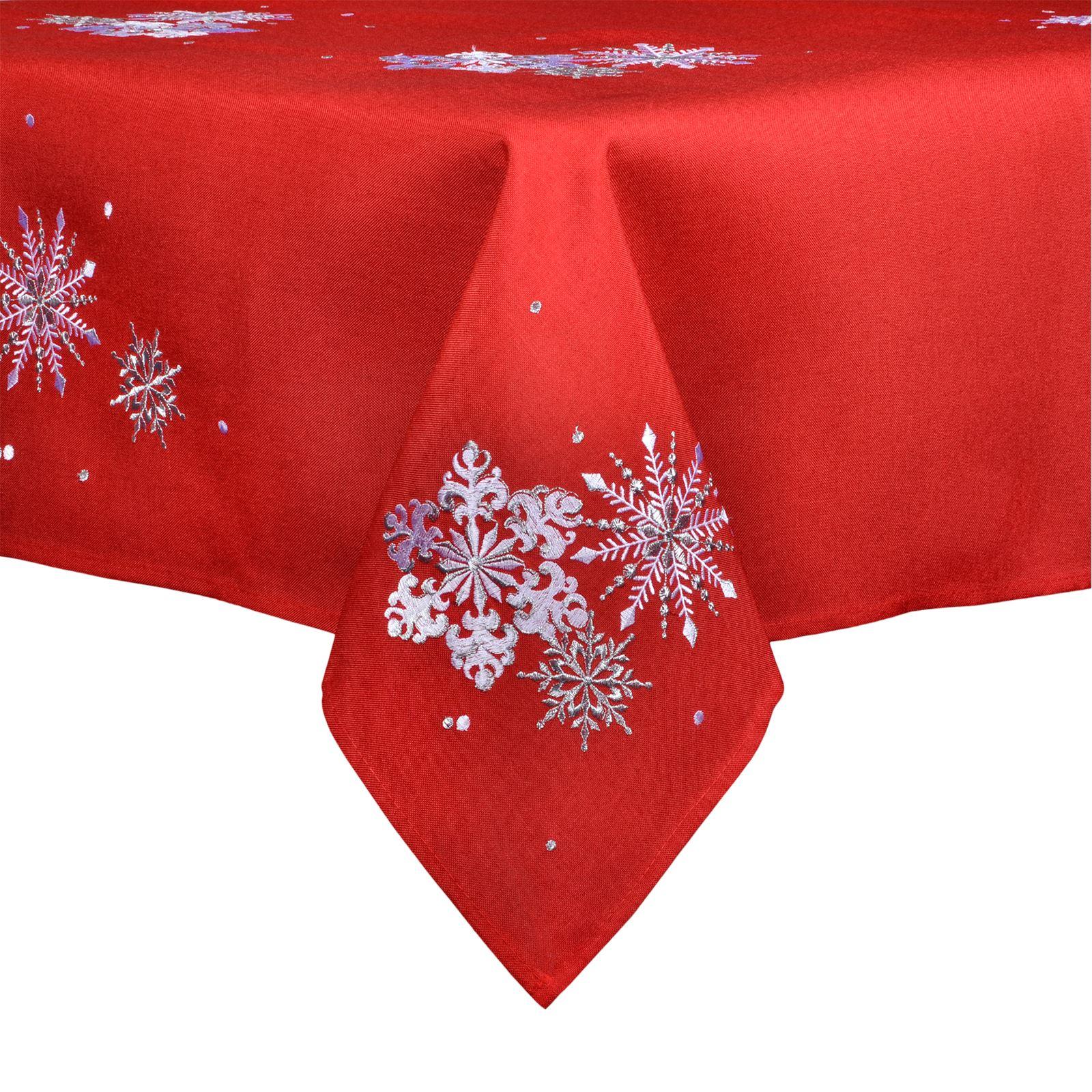 Christmas-Tablecloth-Festive-Pattern-Rectangle-Round-Fabric-Xmas-Room-Decoration Indexbild 36