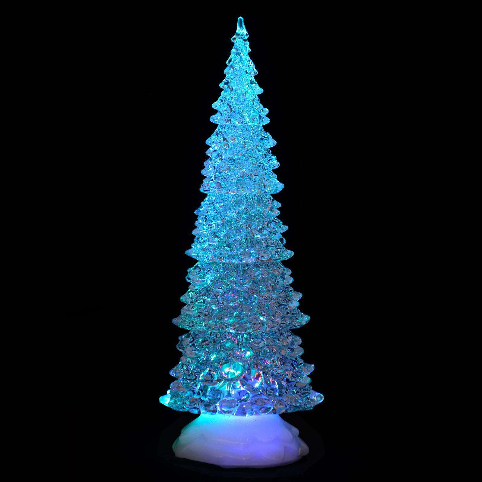Light Up Acrylic Xmas Tree Ornament Christmas Decoration Colour Changing