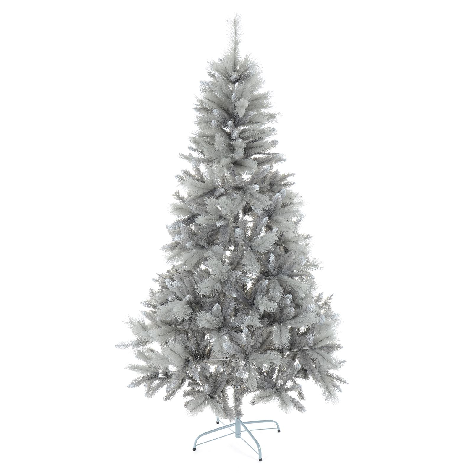 silver christmas tree 6ft 7ft silver mixed pine artificial tree silver 11586