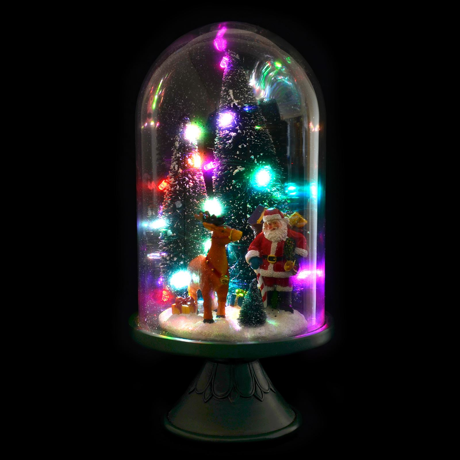 Large glass dome christmas ornament room decoration light for Light up christmas decorations